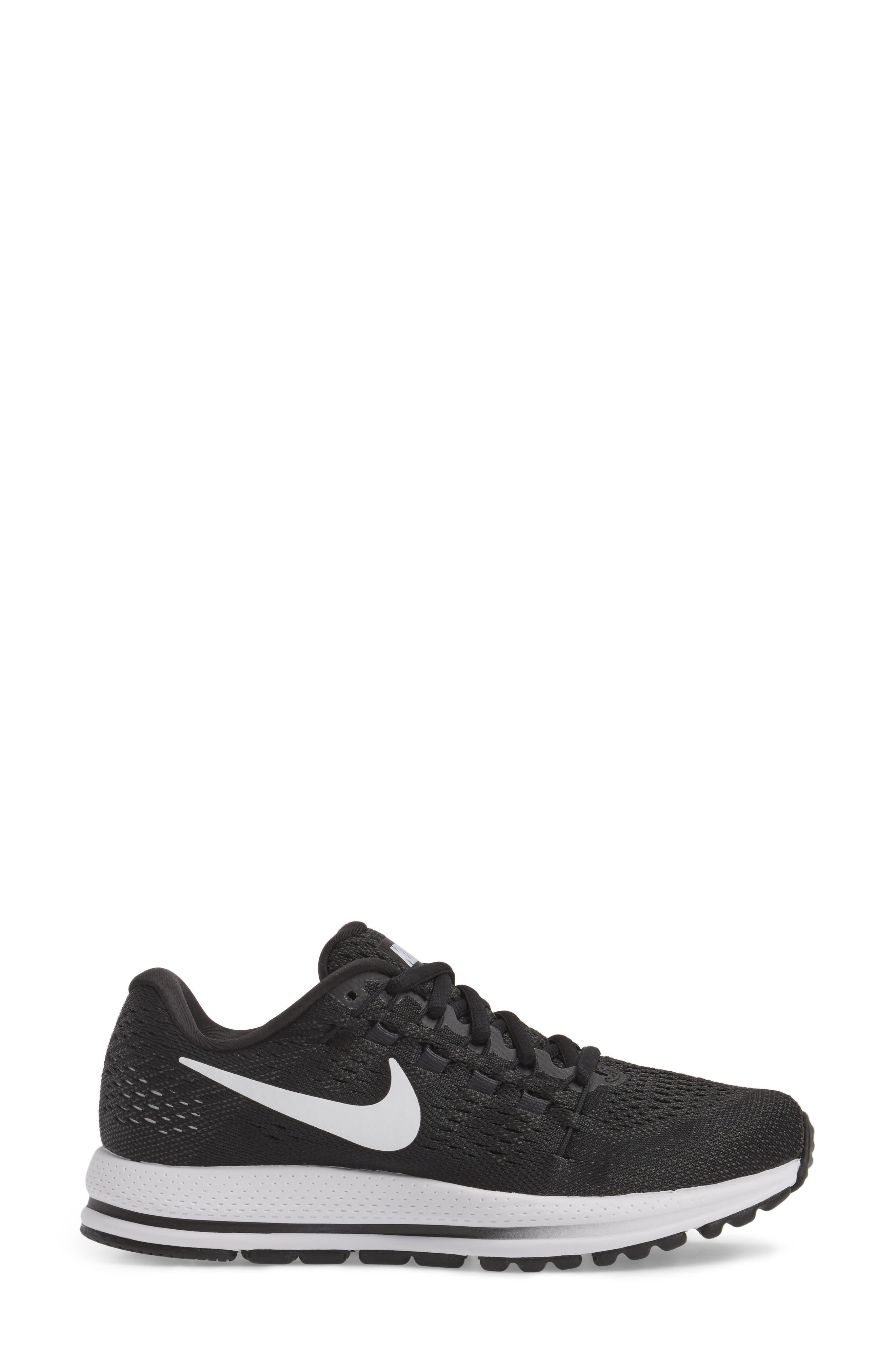 NIKE,                             Air Zoom Vomero 12 Running Shoe,                             Alternate thumbnail 3, color,                             001