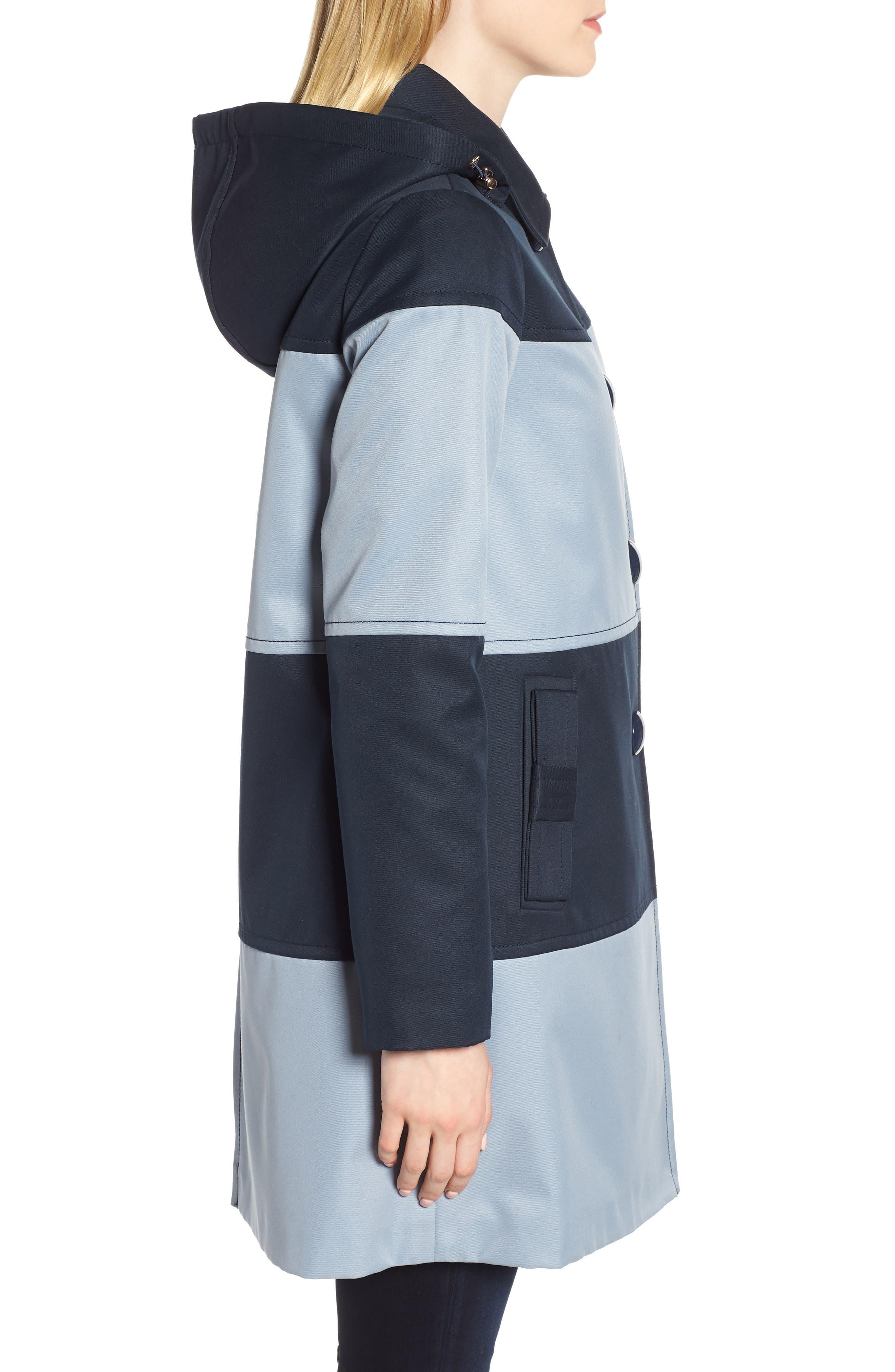 colorblock raincoat,                             Alternate thumbnail 3, color,                             400