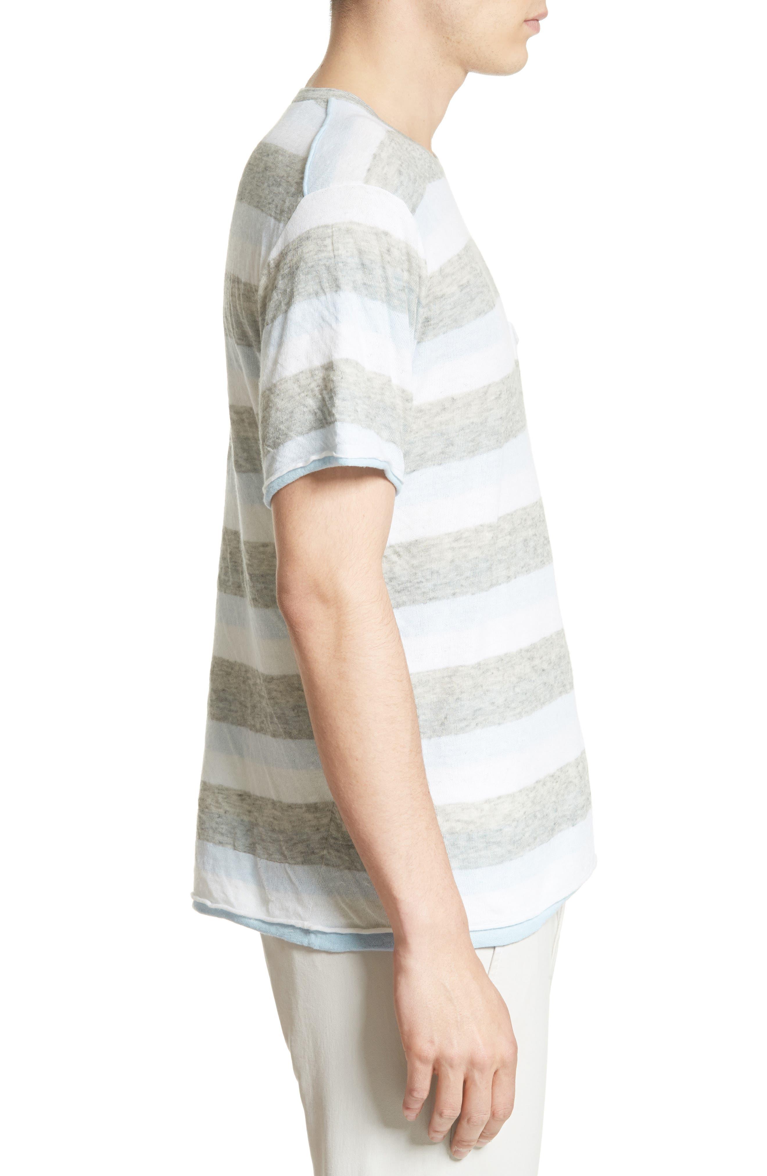 Tripp Cotton & Wool T-Shirt,                             Alternate thumbnail 3, color,                             461