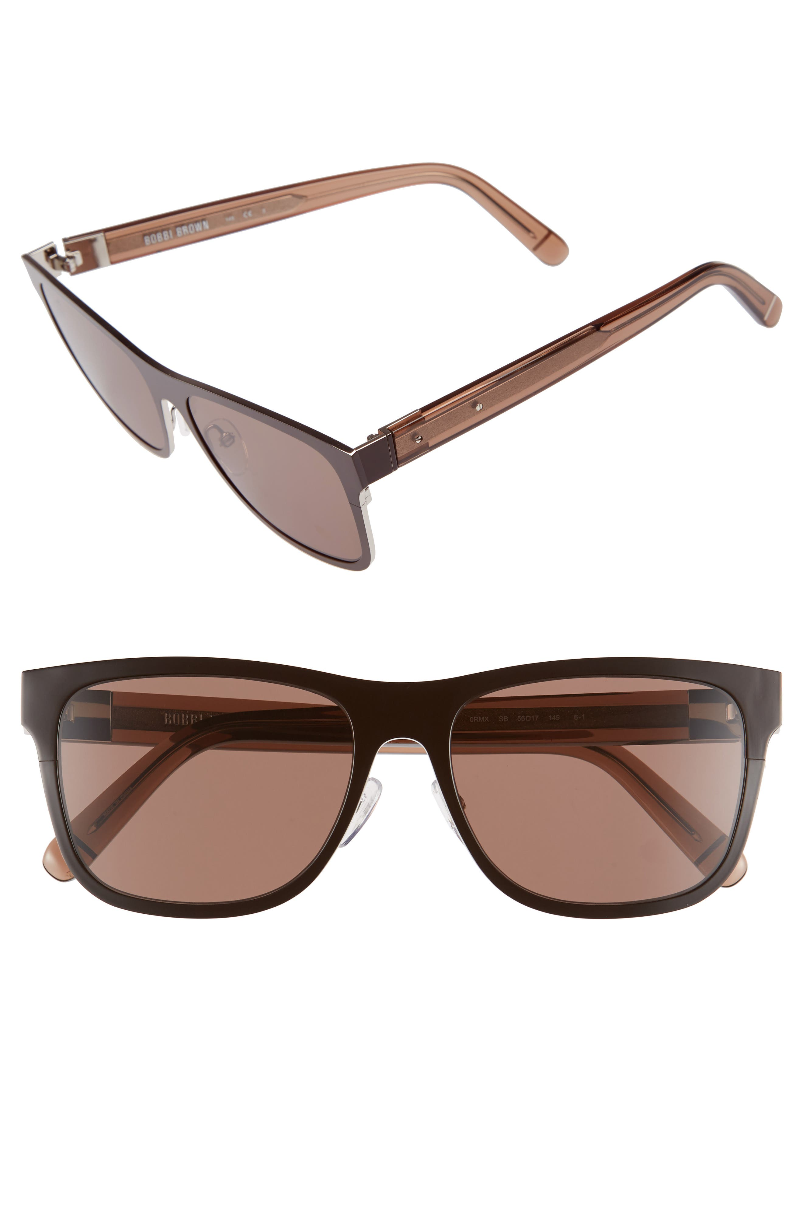 'The Zach' 56mm Retro Sunglasses,                             Alternate thumbnail 5, color,