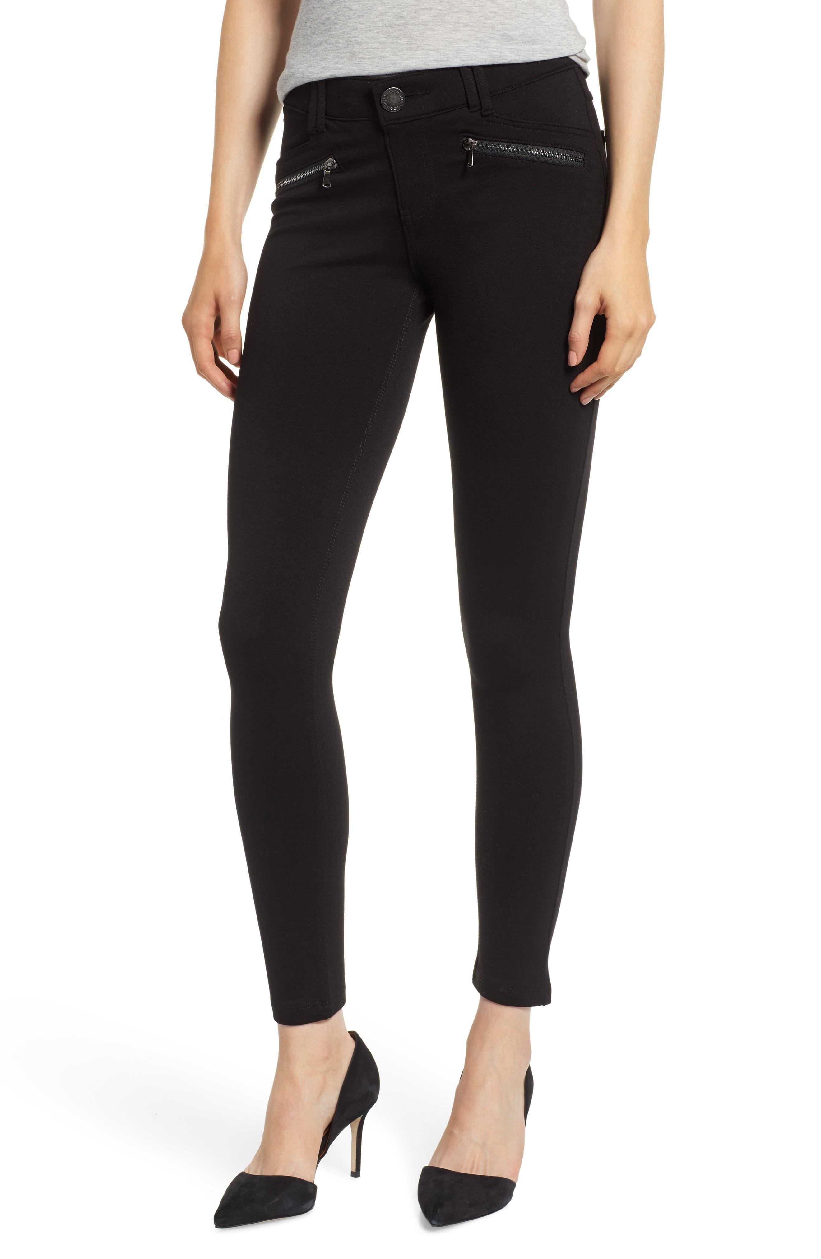 WIT & WISDOM Ab-Solution Skinny Ponte Pants, Main, color, OLD BLACK