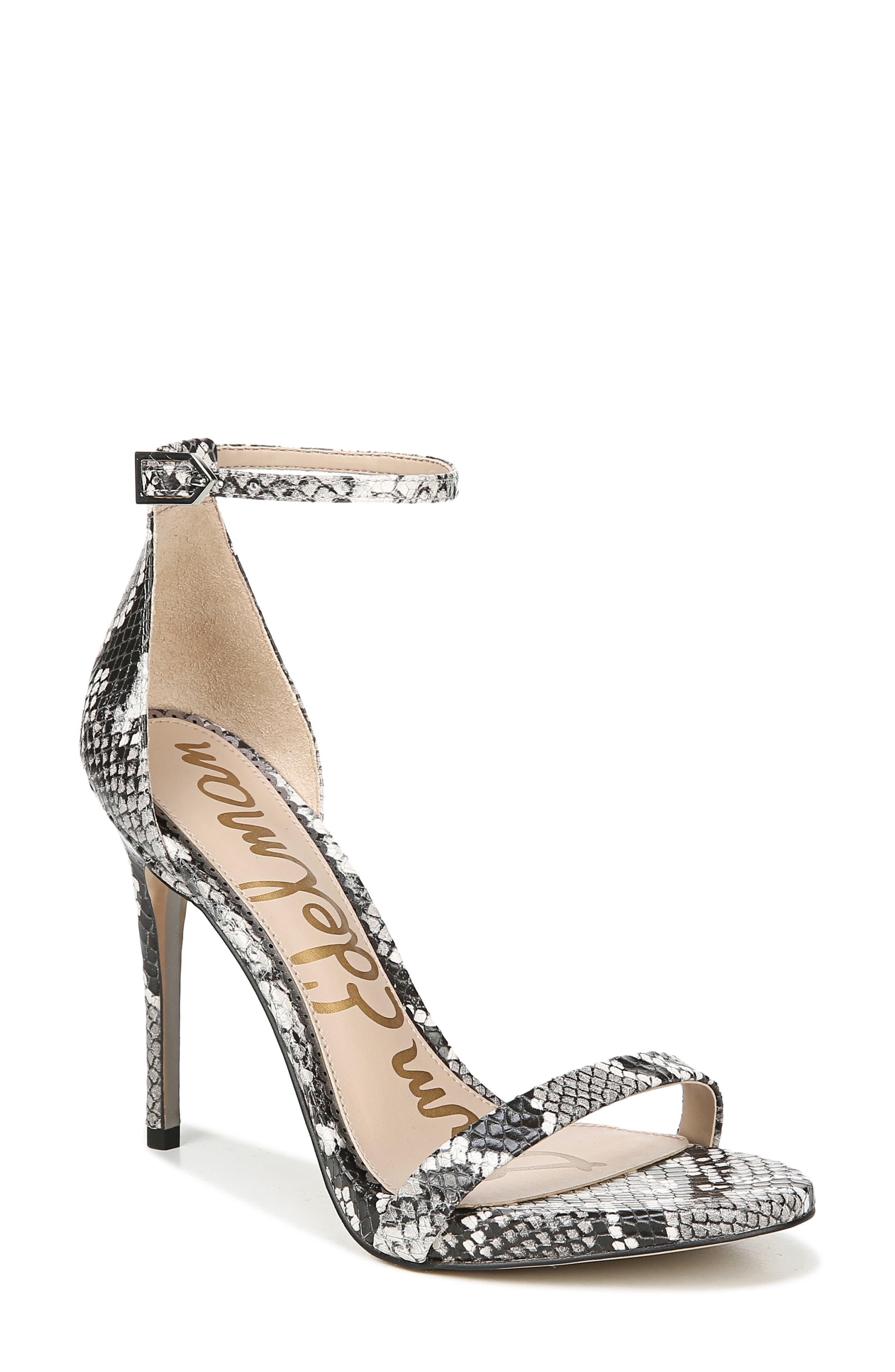Ariella Ankle Strap Sandal,                             Main thumbnail 1, color,                             005