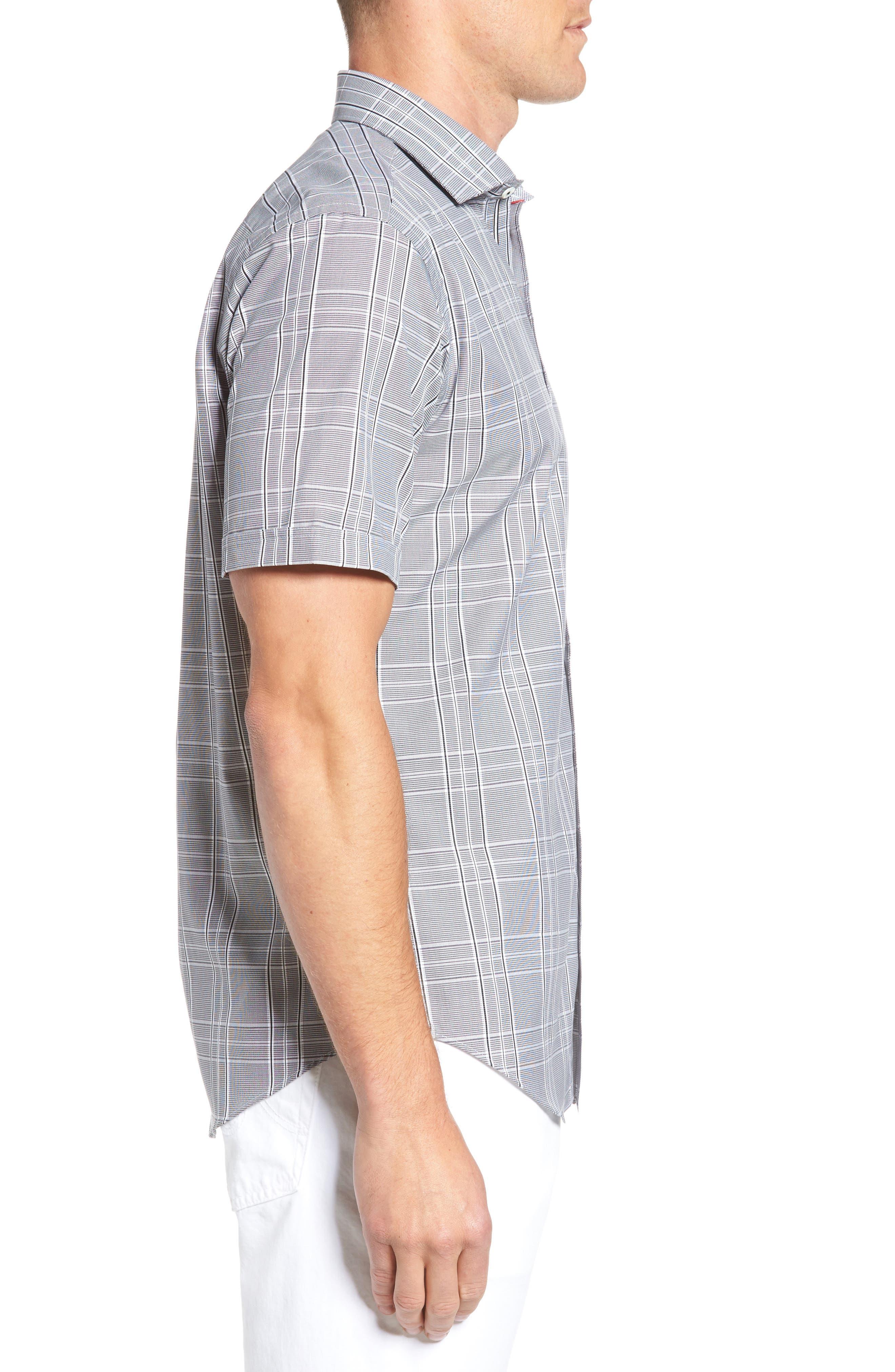Shaped Fit Sport Shirt,                             Alternate thumbnail 3, color,                             001