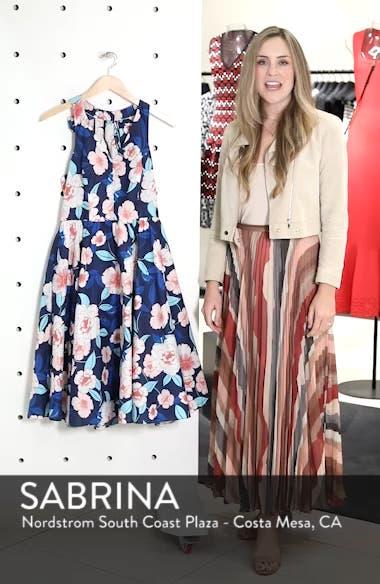 Floral Fit & Flare Halter Dress, sales video thumbnail