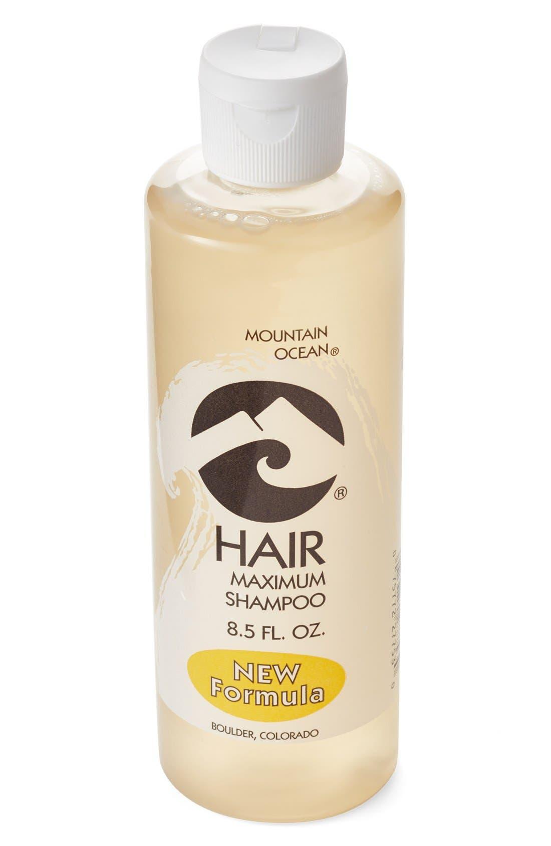 MOUNTAIN OCEAN,                             'Hair Maximum' Shampoo,                             Main thumbnail 1, color,                             270