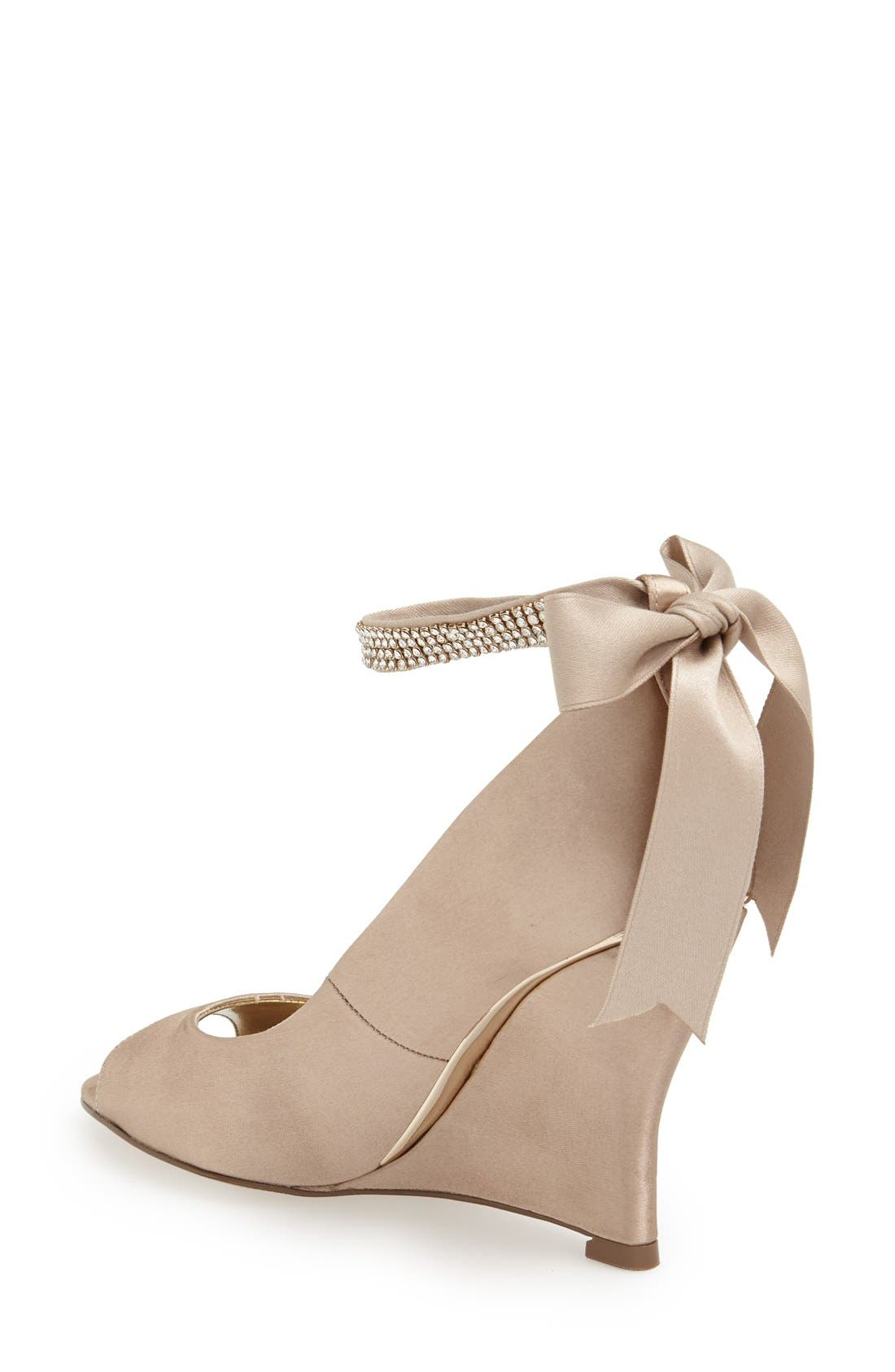 'Emma' Crystal Embellished Ankle Strap Pump,                             Alternate thumbnail 2, color,                             291