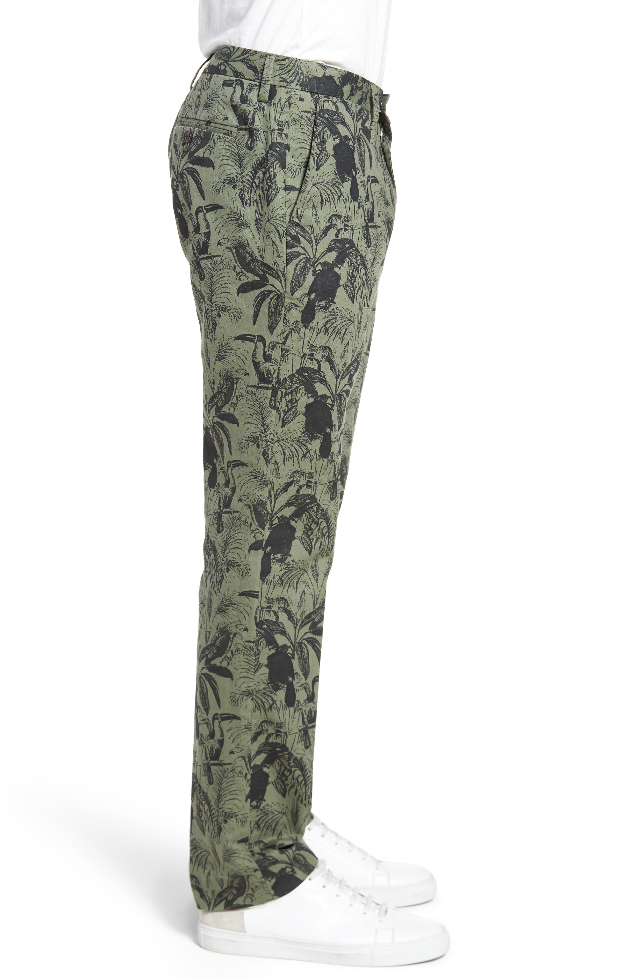 Foundation Print Slim Fit Trousers,                             Alternate thumbnail 3, color,                             300