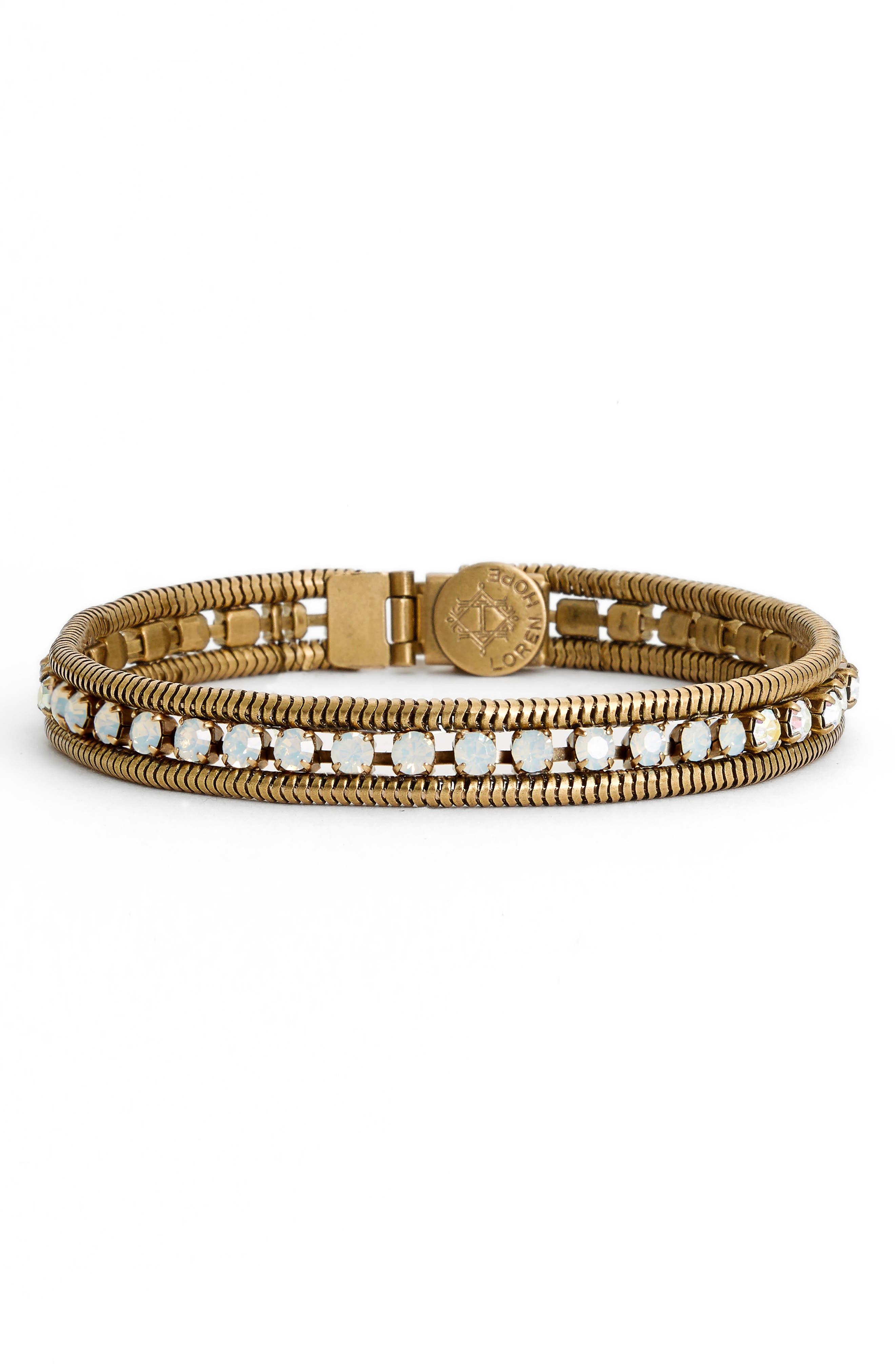 'Clara' Crystal Bracelet,                         Main,                         color, WHITE OPAL