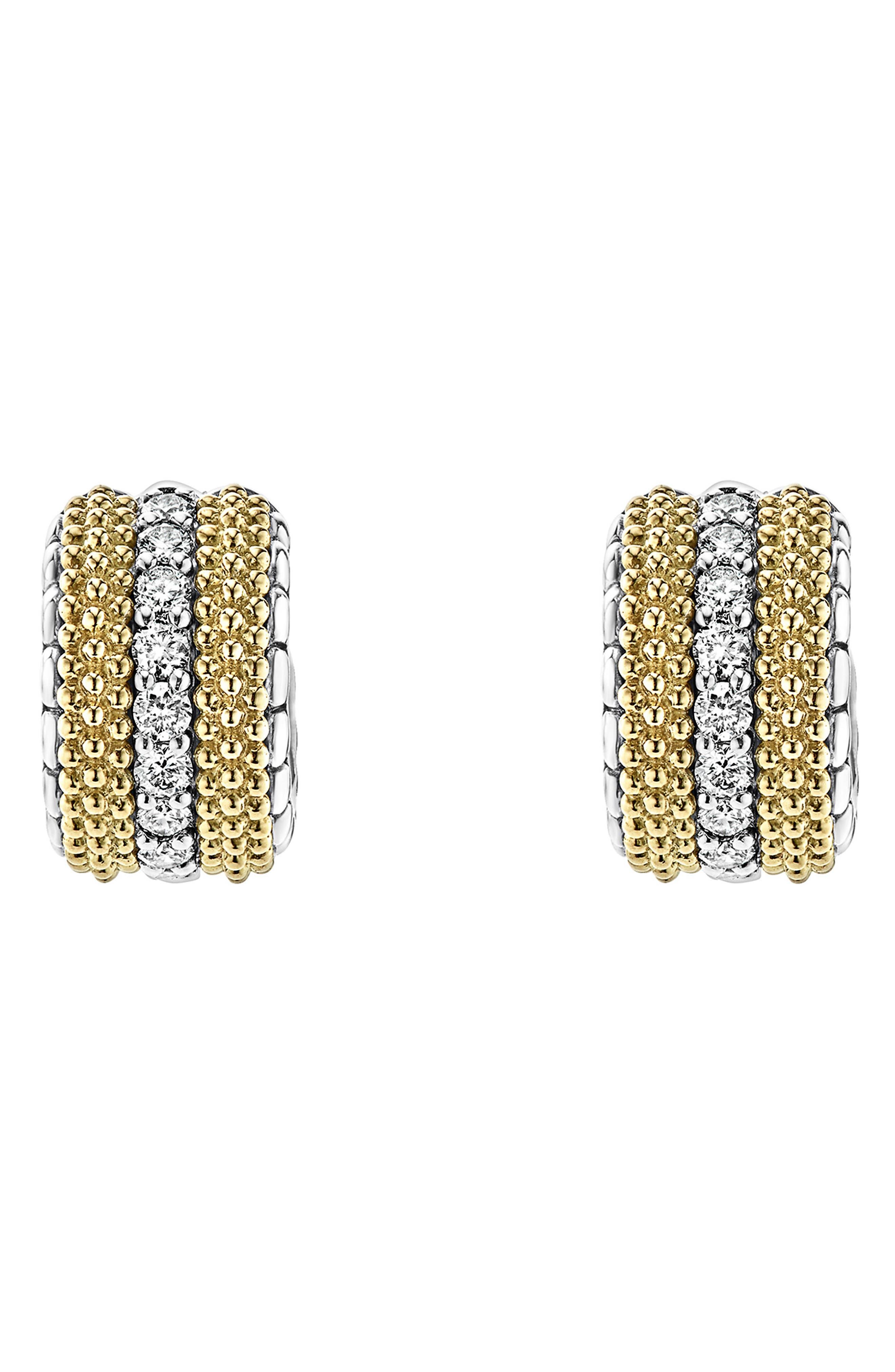 Lux Diamond Hoop Earrings,                             Main thumbnail 1, color,                             DIAMOND