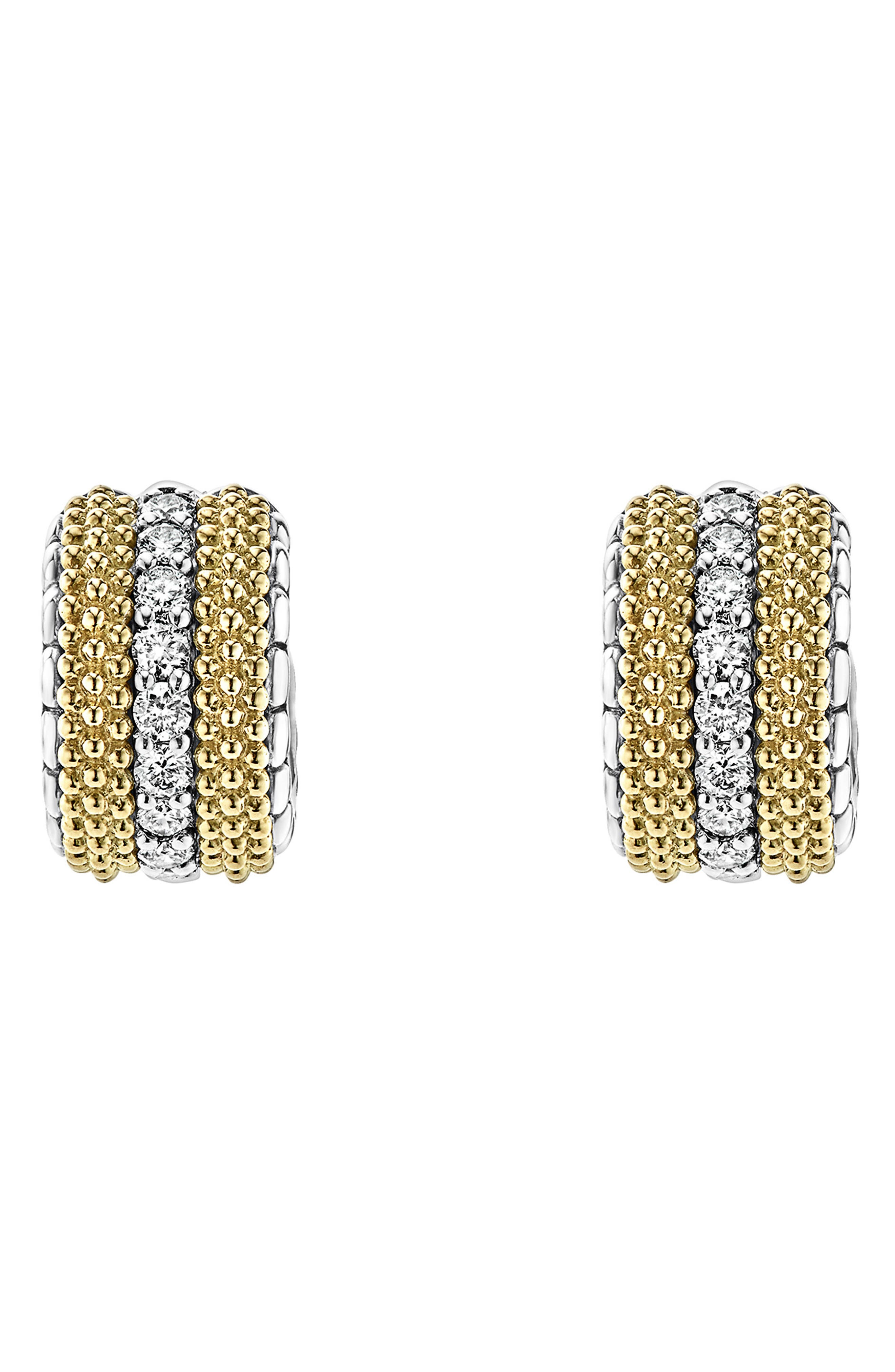 Lux Diamond Hoop Earrings,                         Main,                         color, DIAMOND