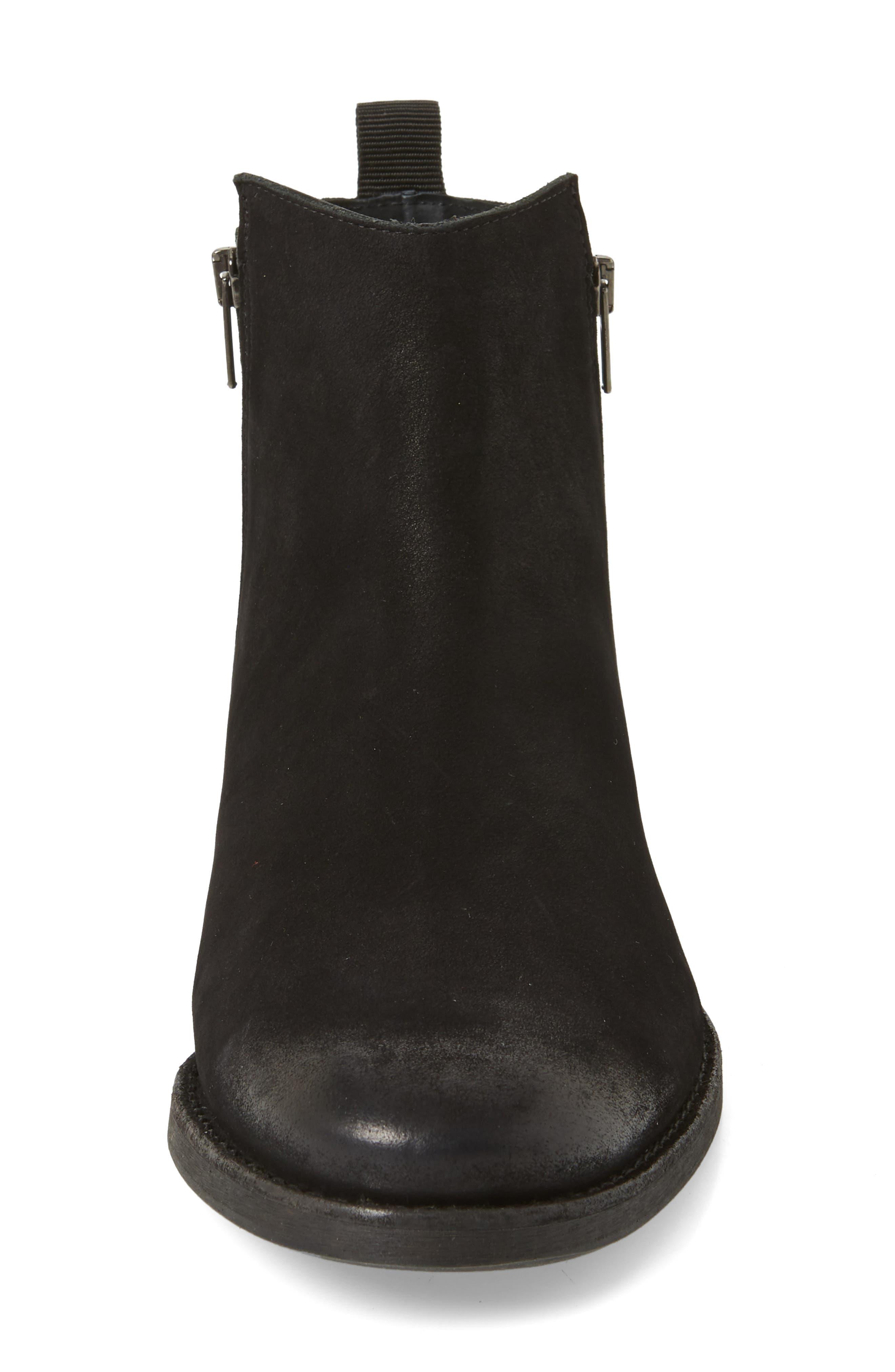 Vance Double Zipper Boot,                             Alternate thumbnail 4, color,                             BLACK LEATHER