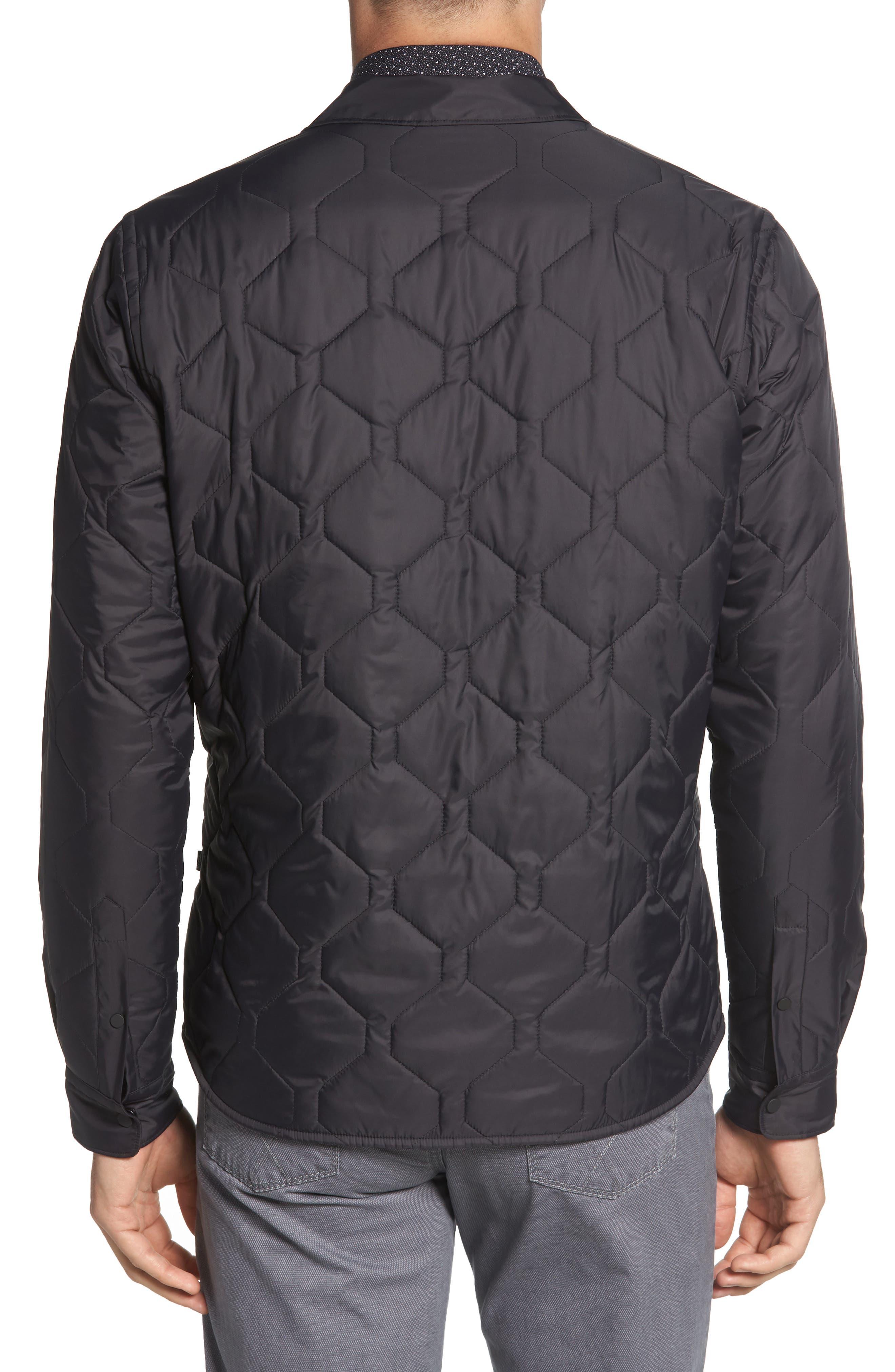 BOSS,                             Landolfo Regular Fit Quilted Jacket,                             Alternate thumbnail 2, color,                             BLACK