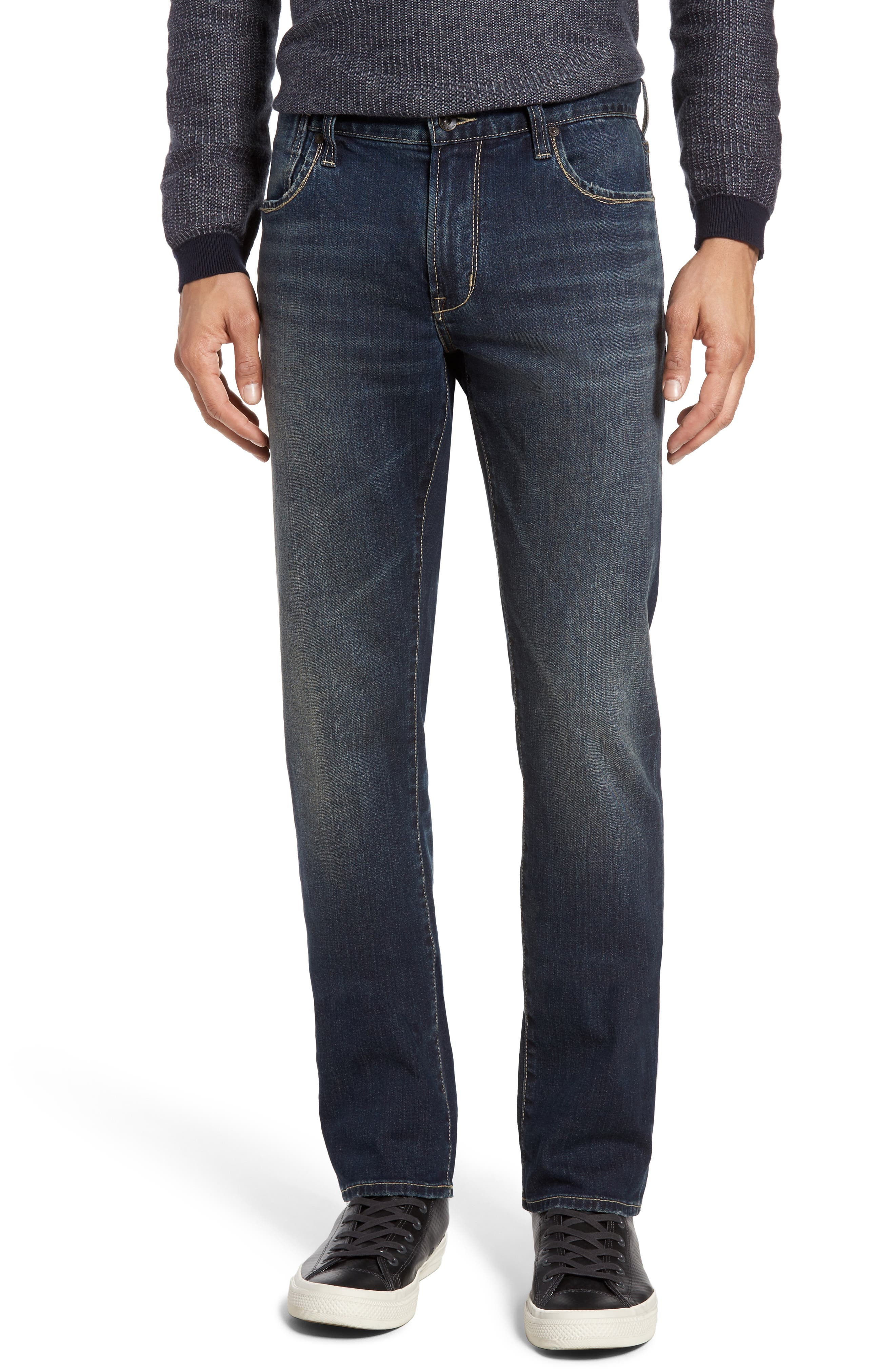 Bowery Slim Straight Leg Jeans,                             Main thumbnail 1, color,