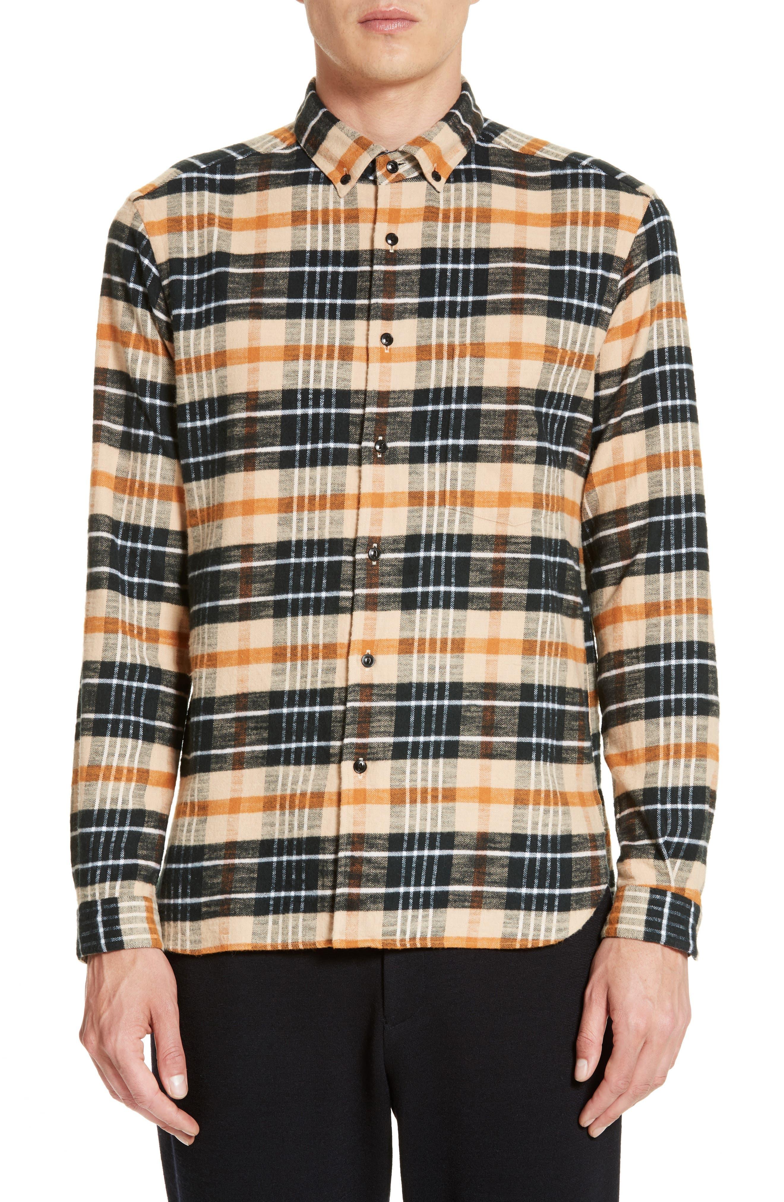 Bradford Plaid Flannel Sport Shirt,                         Main,                         color, 270