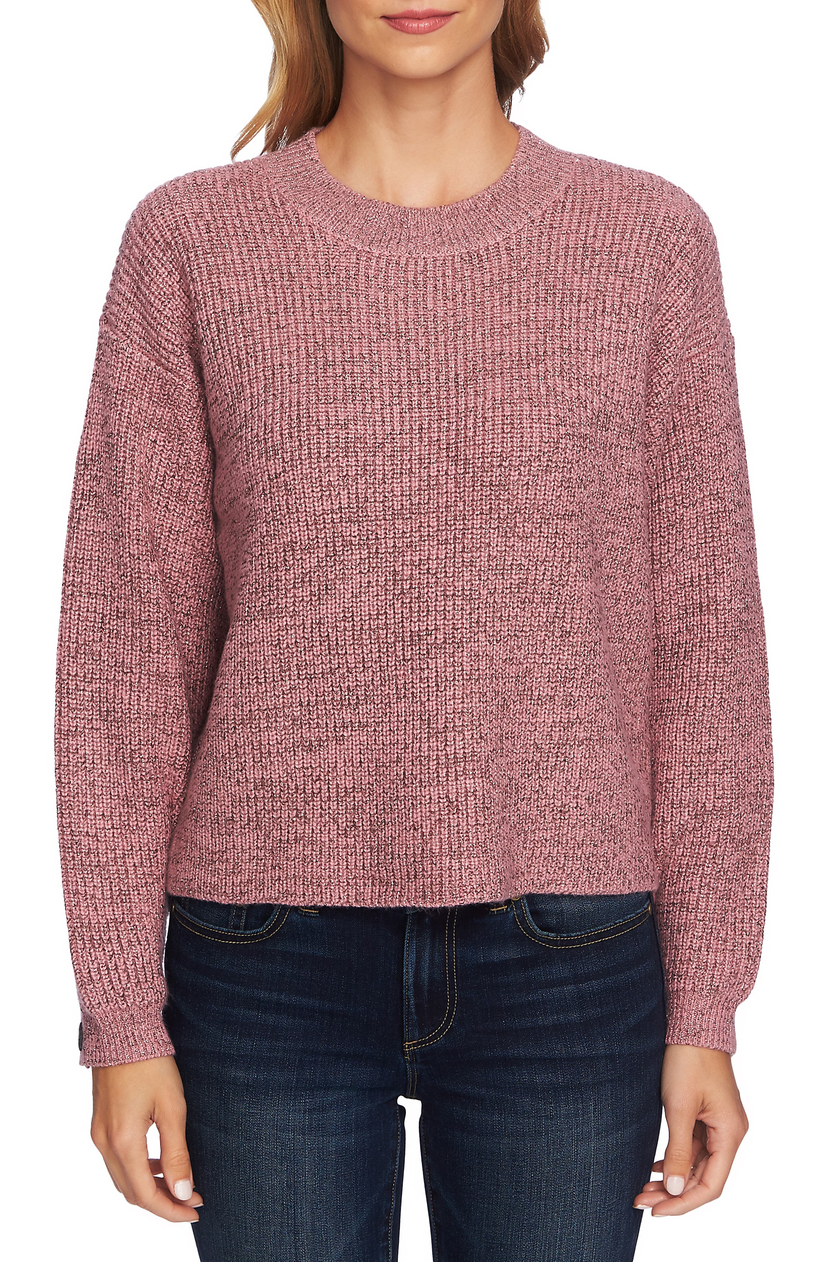 Ribbed Pullover,                         Main,                         color, FOXGLOVE