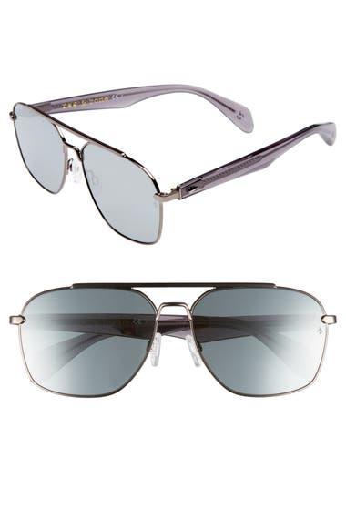 5db02dc982e rag   bone 60mm Mirrored Navigator Sunglasses
