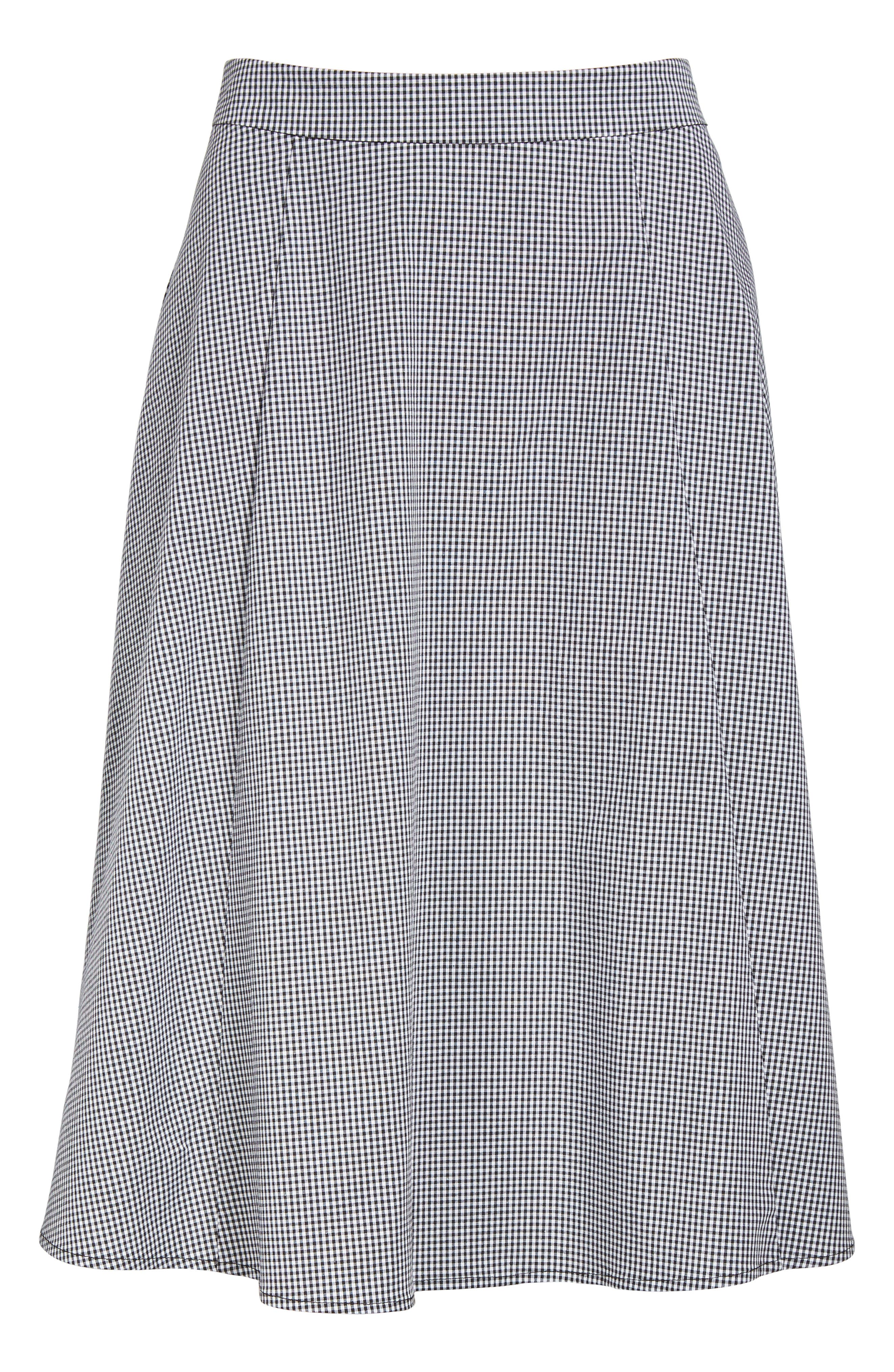 Gingham A-Line Skirt,                             Alternate thumbnail 6, color,