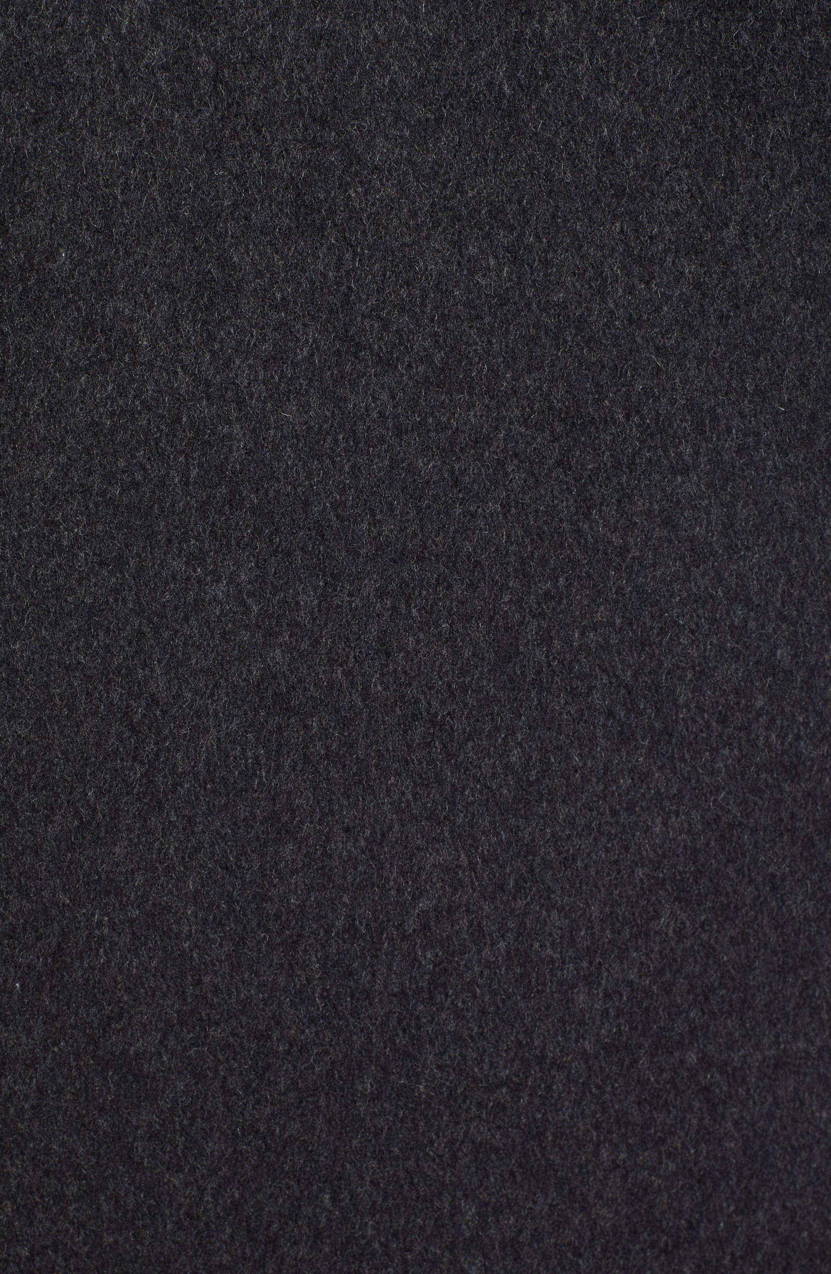 Roslyn Waterproof Lambswool Blend Hooded Coat,                             Alternate thumbnail 7, color,                             CHARCOAL