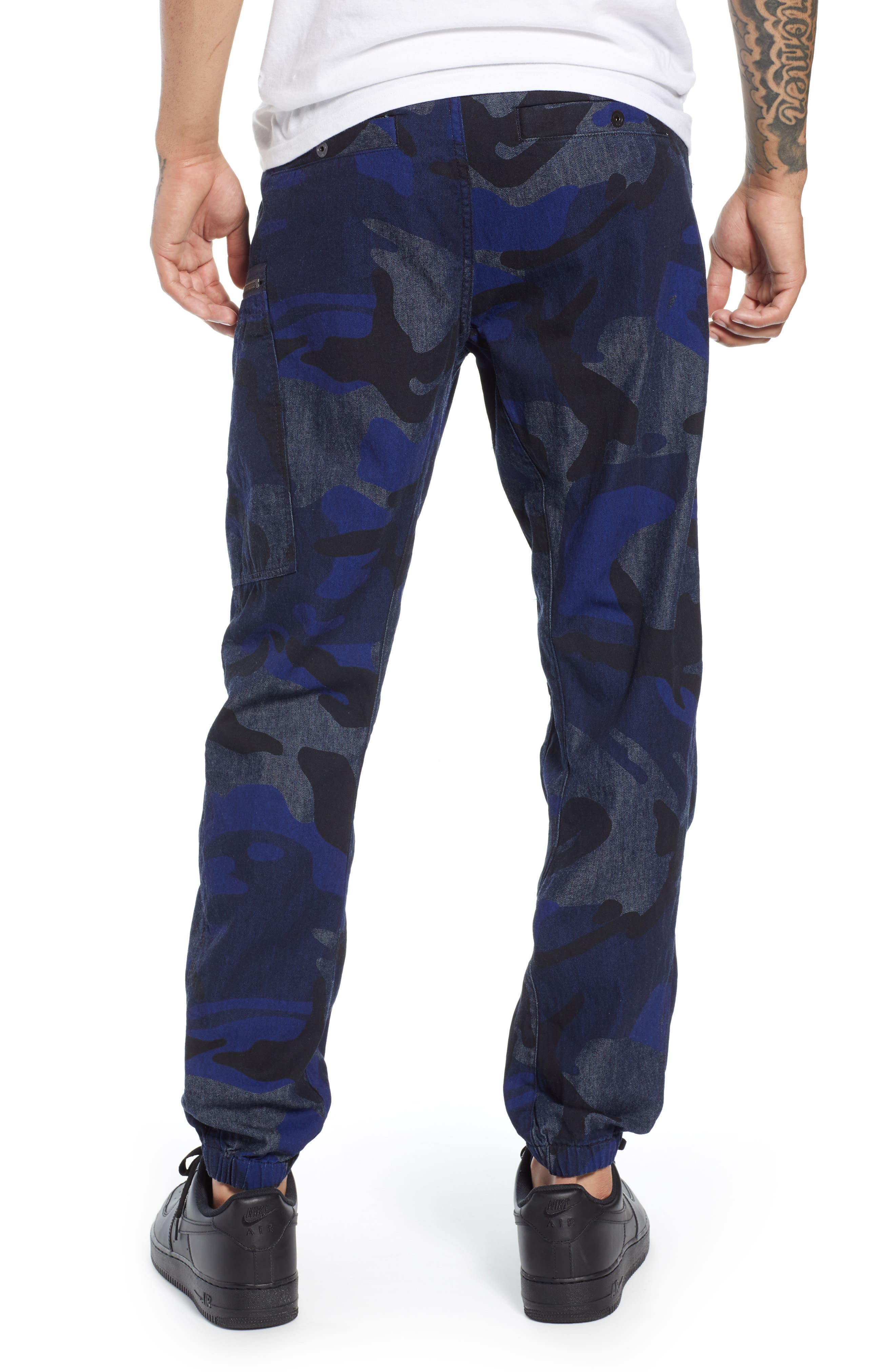 Powel Tapered Pants,                             Alternate thumbnail 2, color,                             RAW DENIM/ PHANTOM BLUE