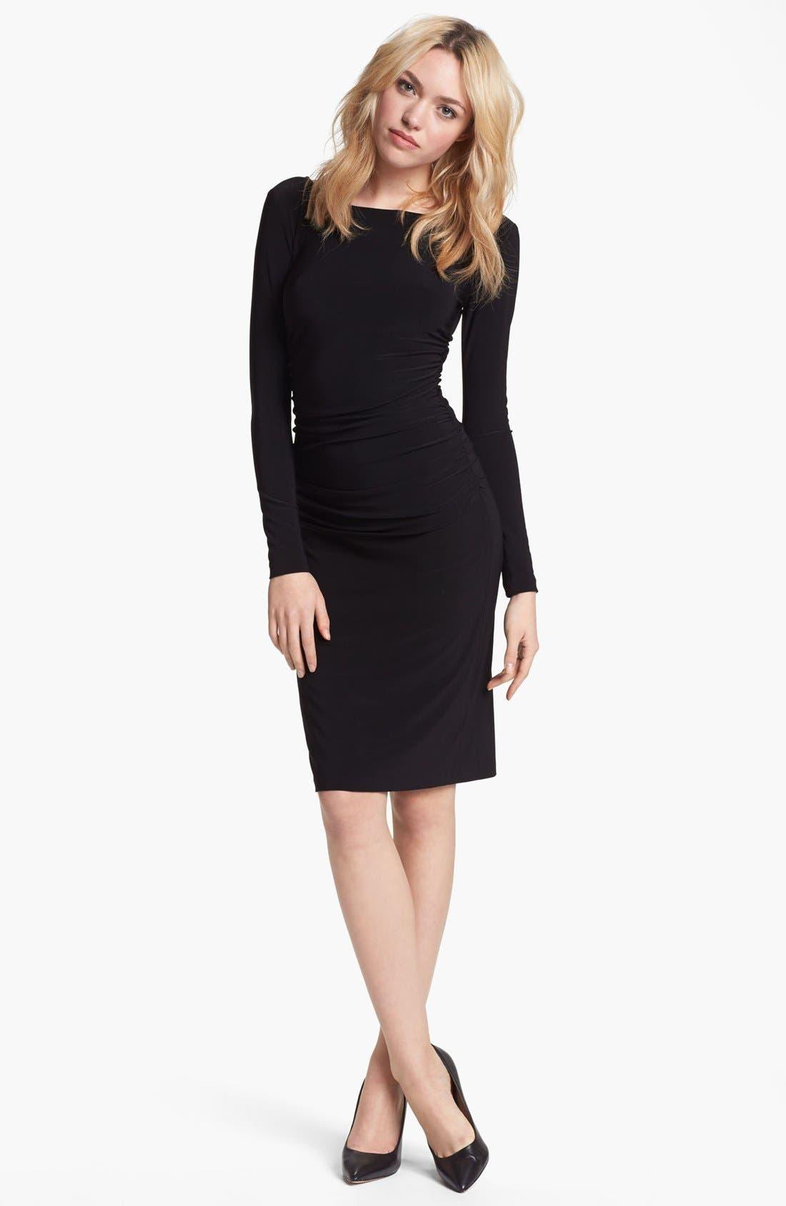Shirred Long Sleeve Dress,                             Alternate thumbnail 2, color,                             001