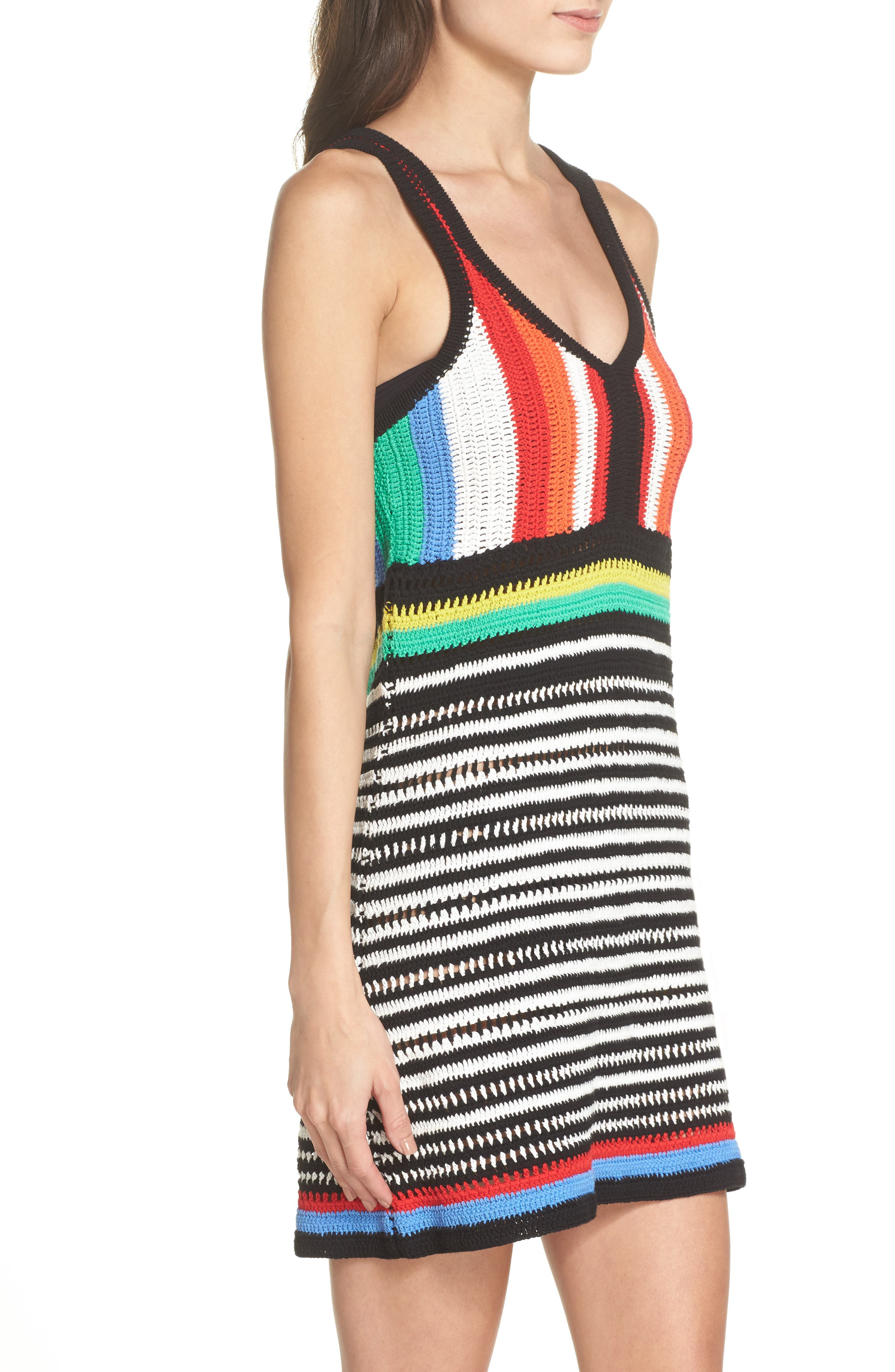 Sweater Cover-Up Dress,                             Alternate thumbnail 3, color,                             600