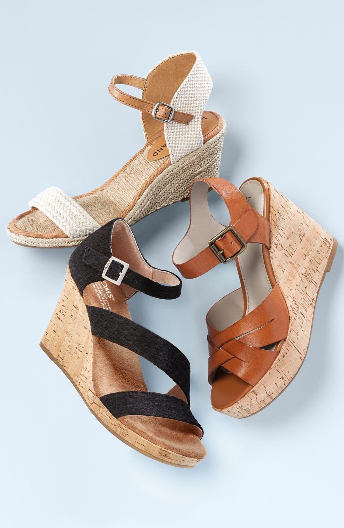 'Katereena' Wedge Sandal,                             Alternate thumbnail 5, color,                             001