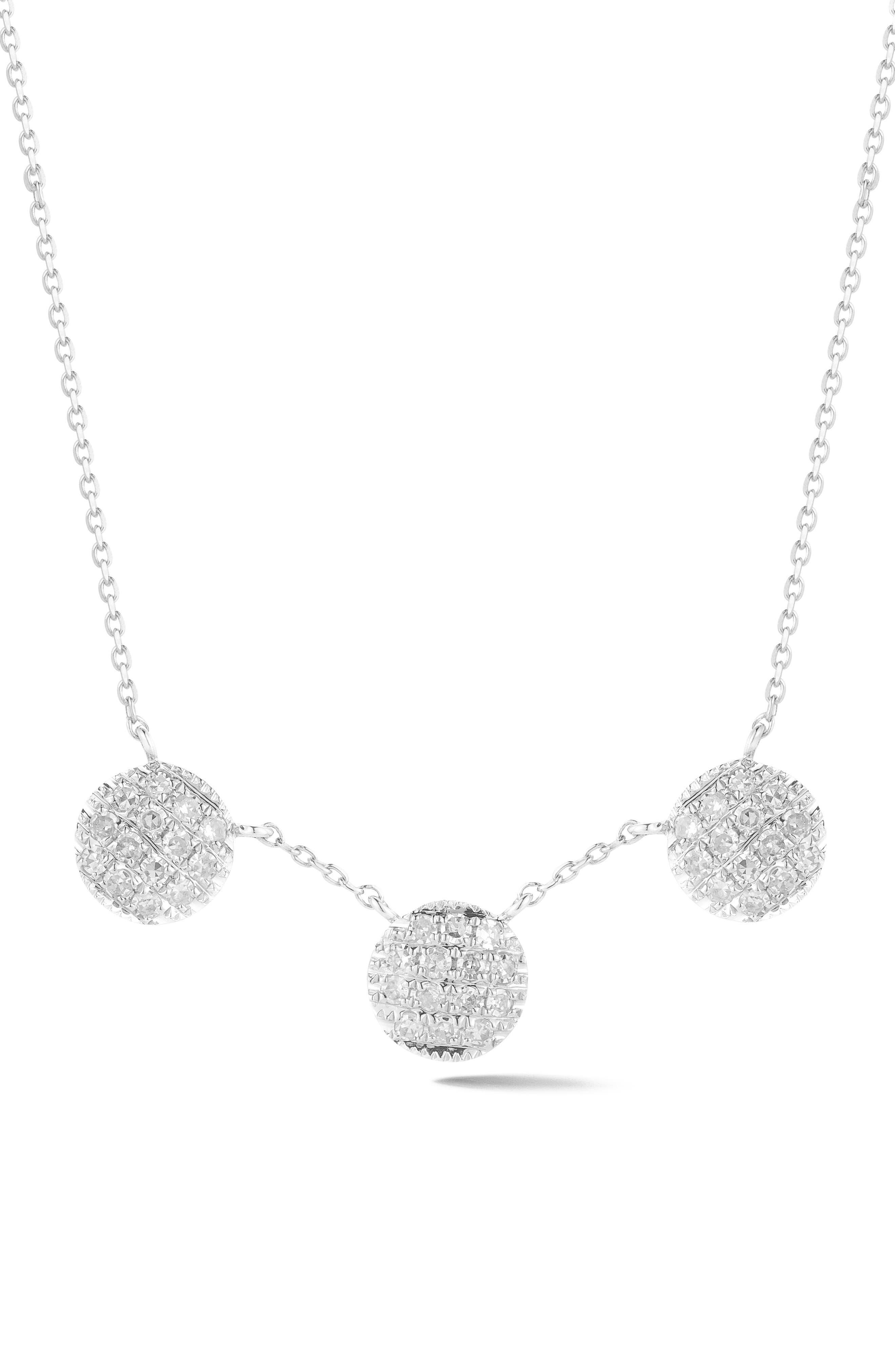 Lauren Joy Three-Disc Diamond Necklace,                             Main thumbnail 2, color,
