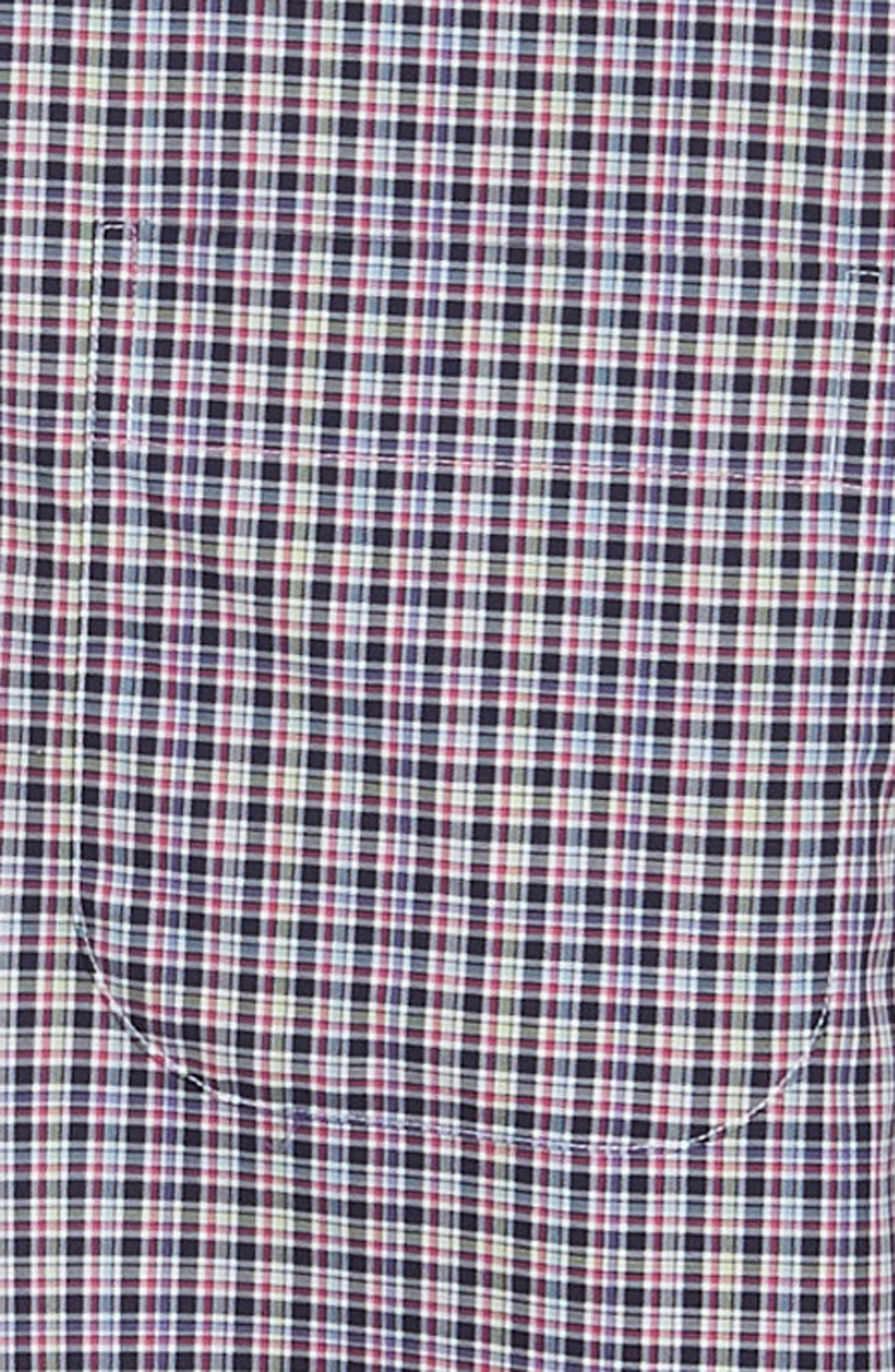 Crown Ease Triberg Regular Fit Check Sport Shirt,                             Alternate thumbnail 6, color,                             BLUE