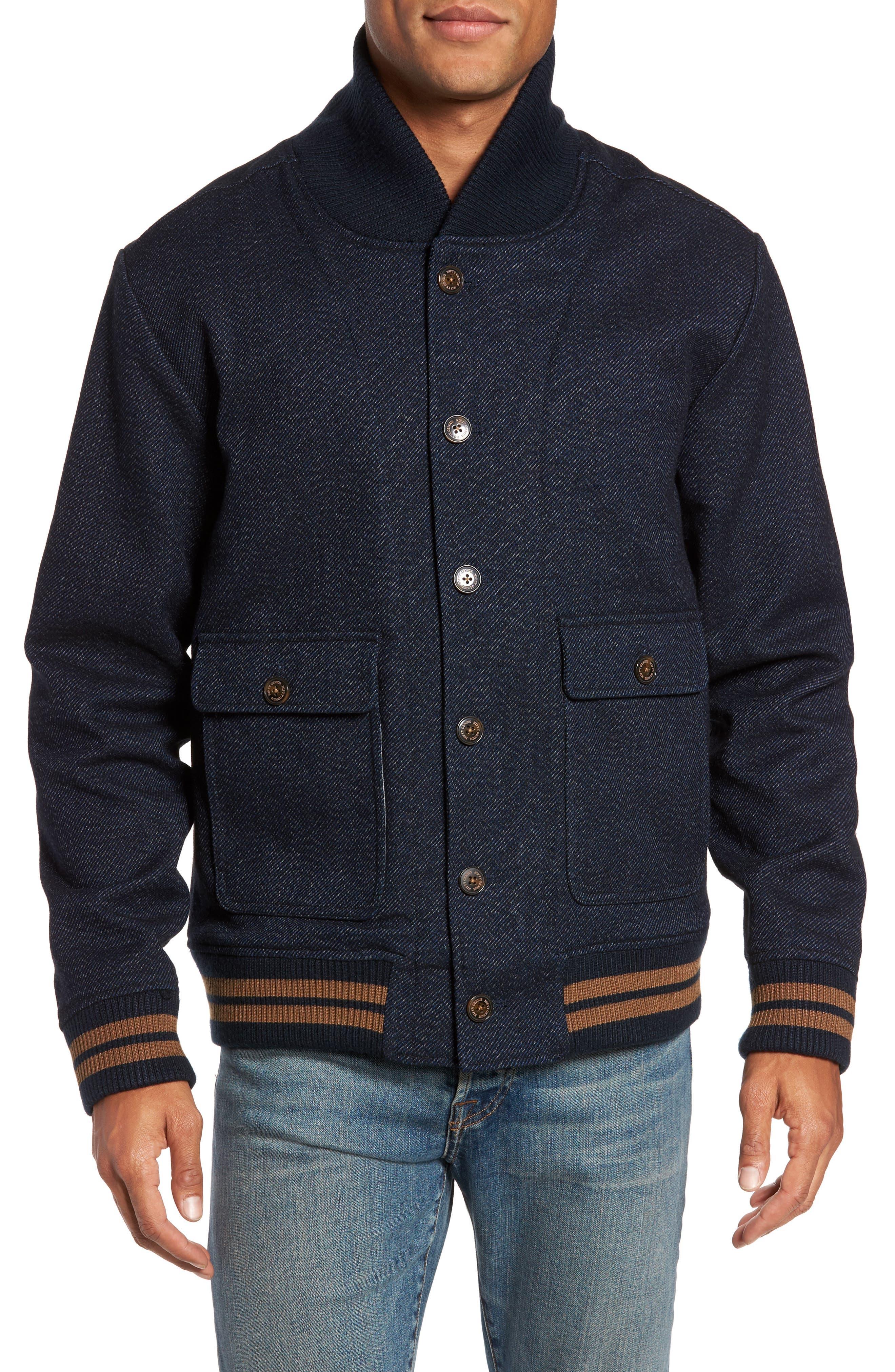 Roll Collar Varsity Jacket,                             Alternate thumbnail 4, color,                             401
