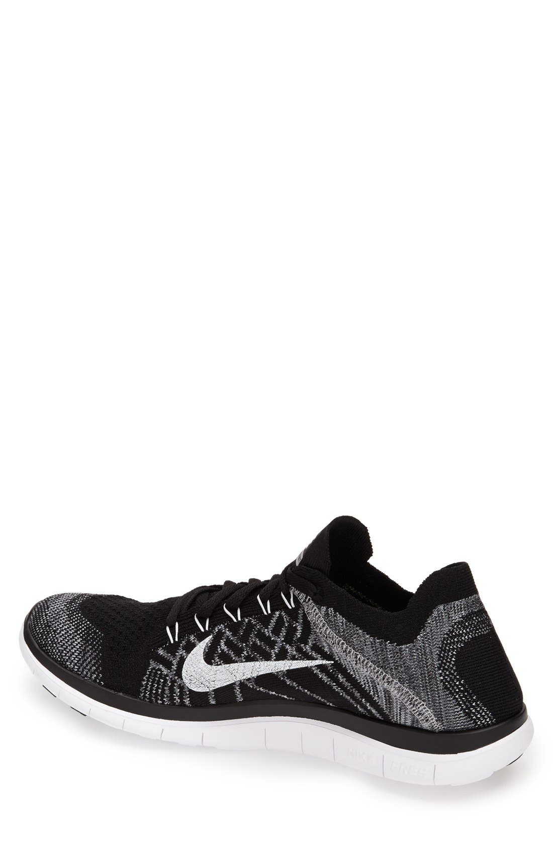 'Free Flyknit 4.0' Running Shoe,                             Alternate thumbnail 2, color,                             001