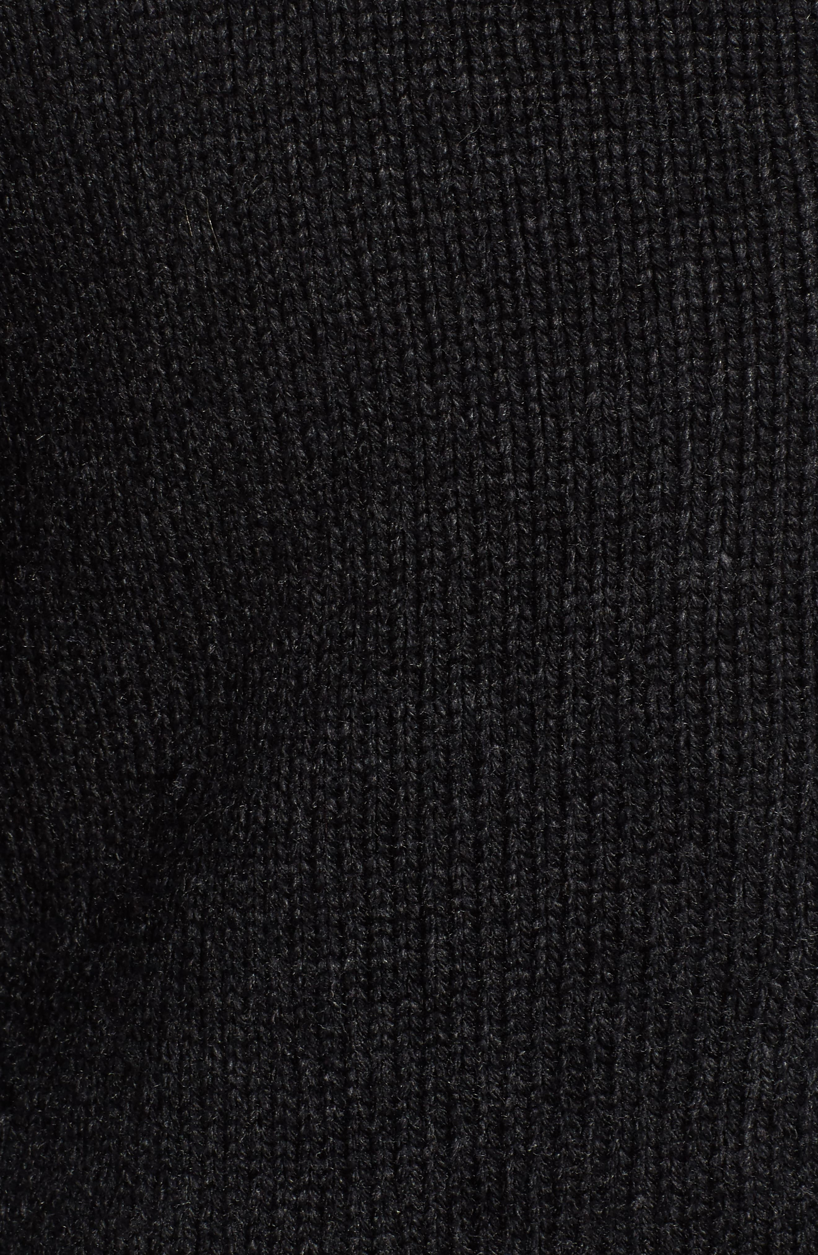 Lined Wool Zip Sweater,                             Alternate thumbnail 6, color,                             BLACK