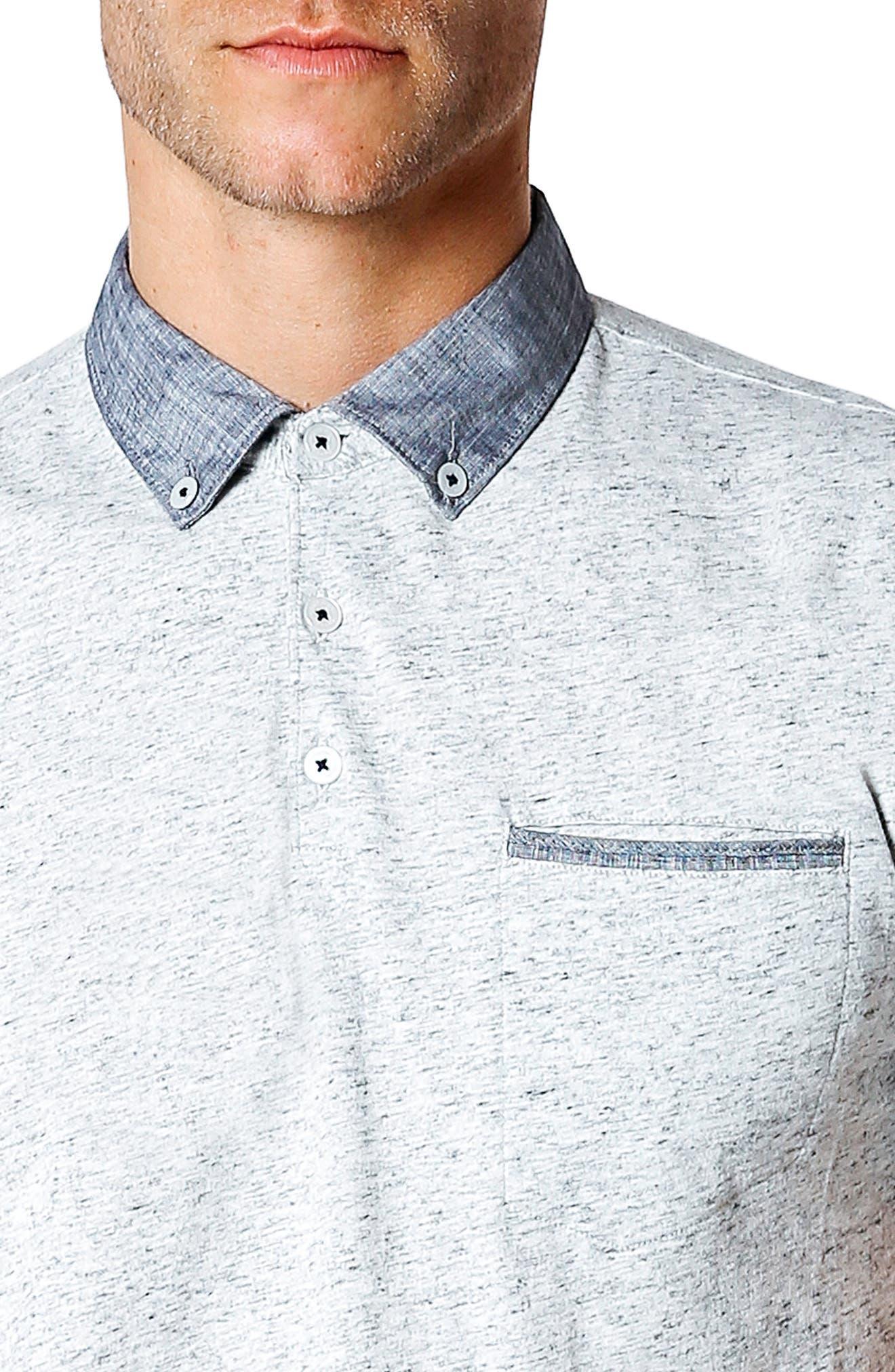 GOOD MAN BRAND,                             Trim Fit Polo Shirt,                             Alternate thumbnail 4, color,                             030