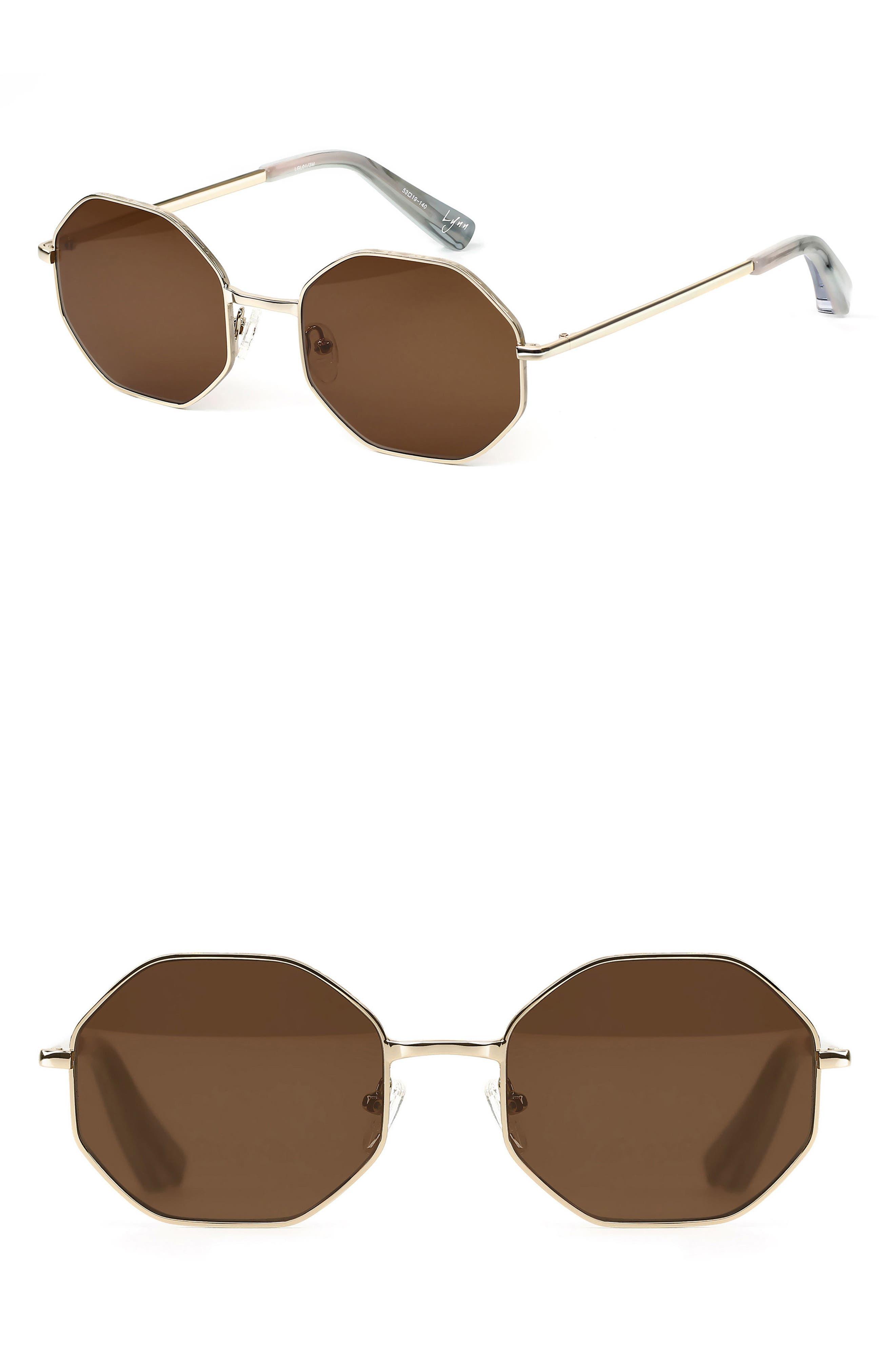 Lynn 53mm Octagonal Lens Sunglasses,                             Main thumbnail 2, color,