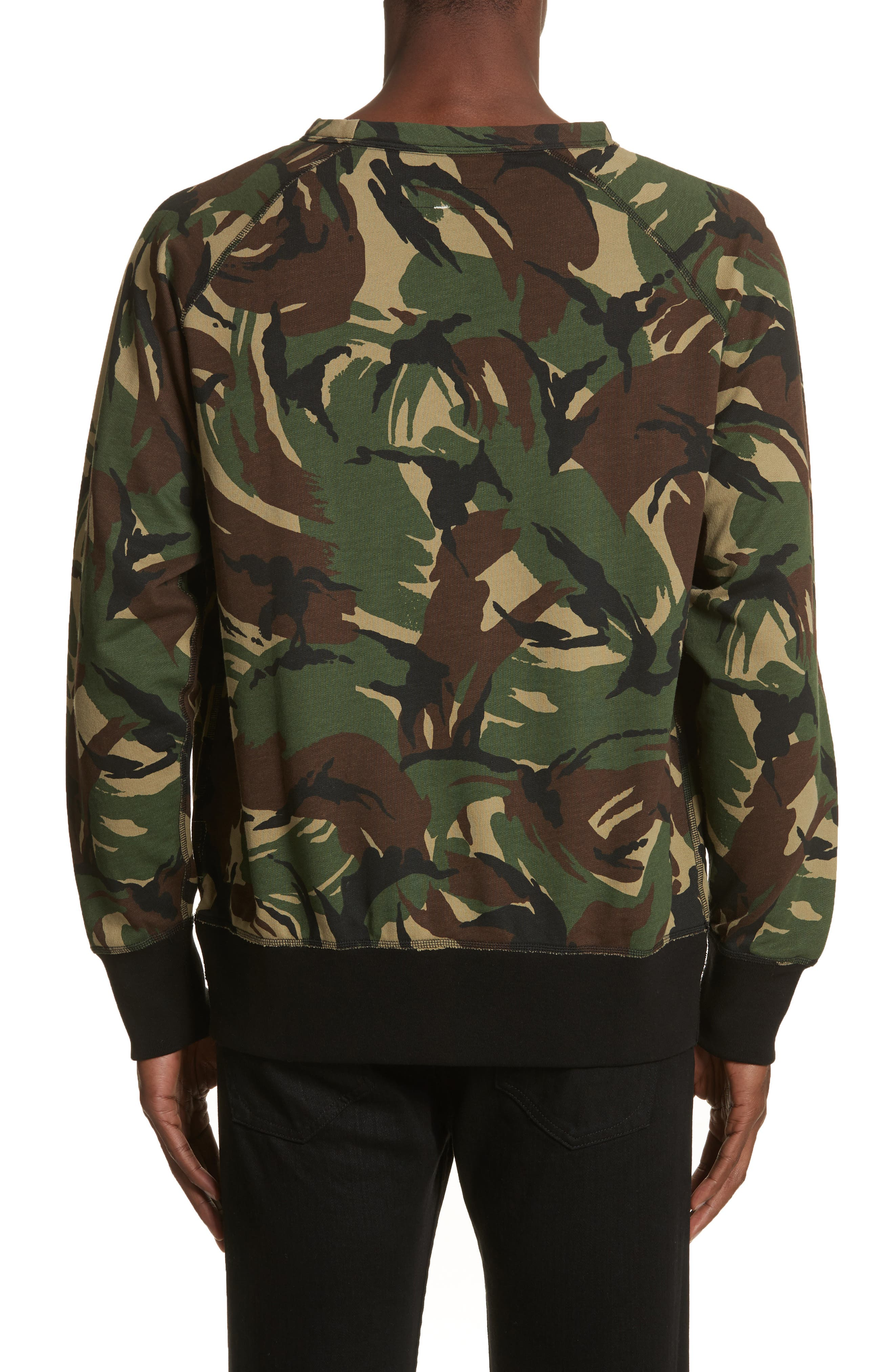 Camo Sweatshirt,                             Alternate thumbnail 2, color,