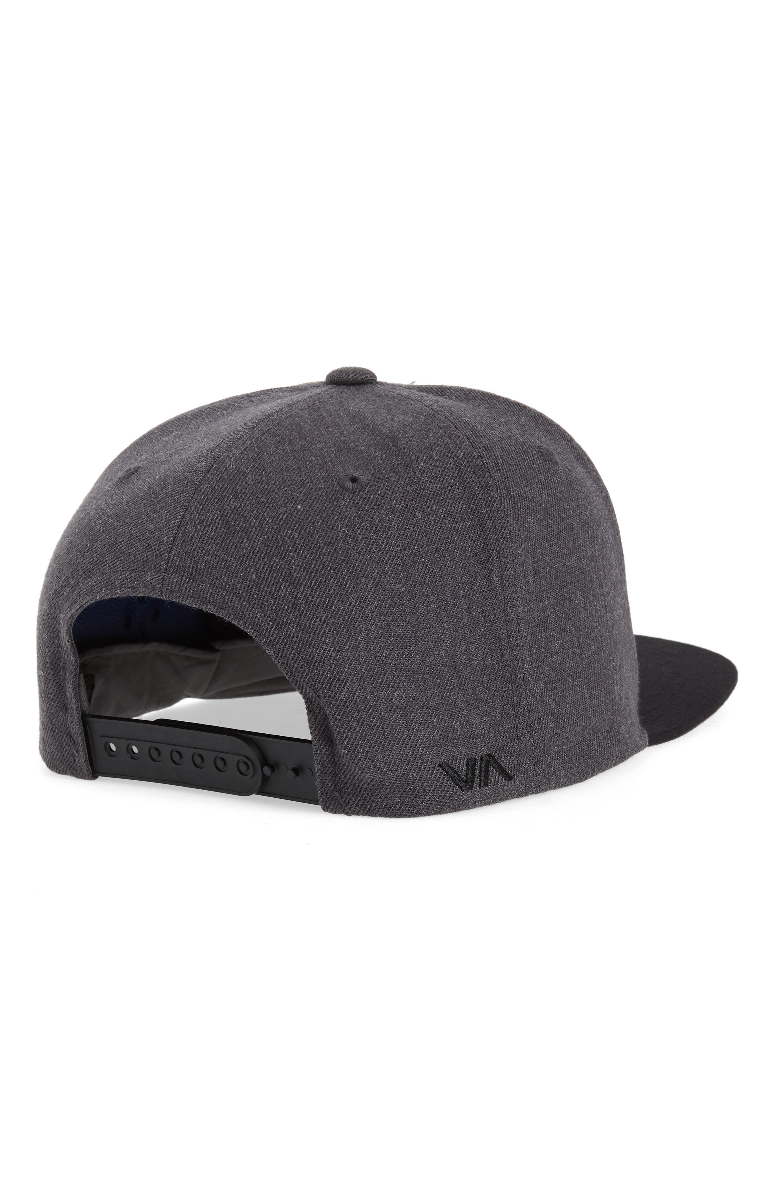 Twill Snapback Baseball Cap,                             Alternate thumbnail 2, color,                             CHARCOAL HEATHER/BLACK