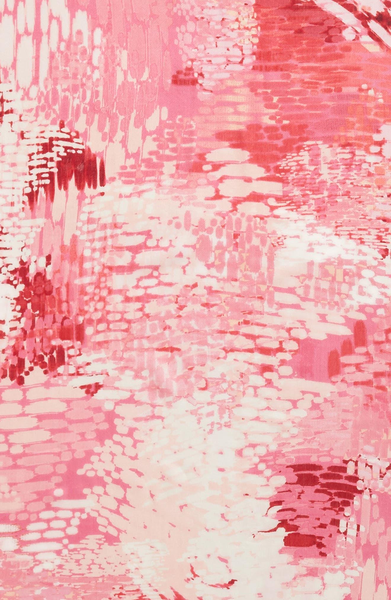 Eyelash Trim Print Cashmere & Silk Wrap,                             Alternate thumbnail 114, color,