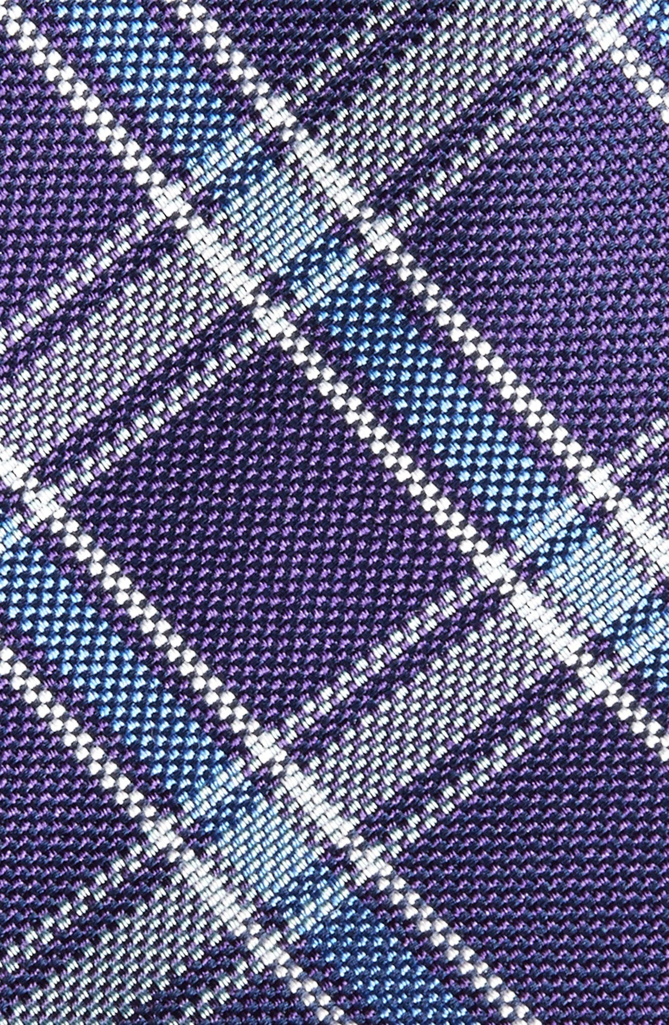 Oxford Plaid Silk Tie,                             Alternate thumbnail 4, color,