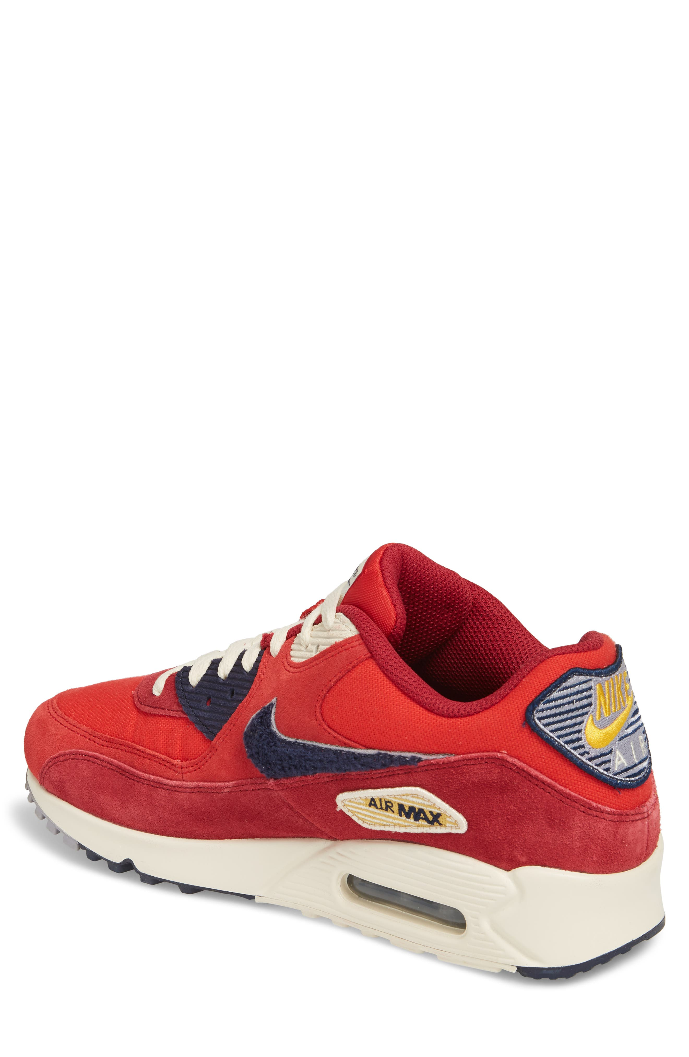 Air Max 90 Premium Sneaker,                             Alternate thumbnail 5, color,