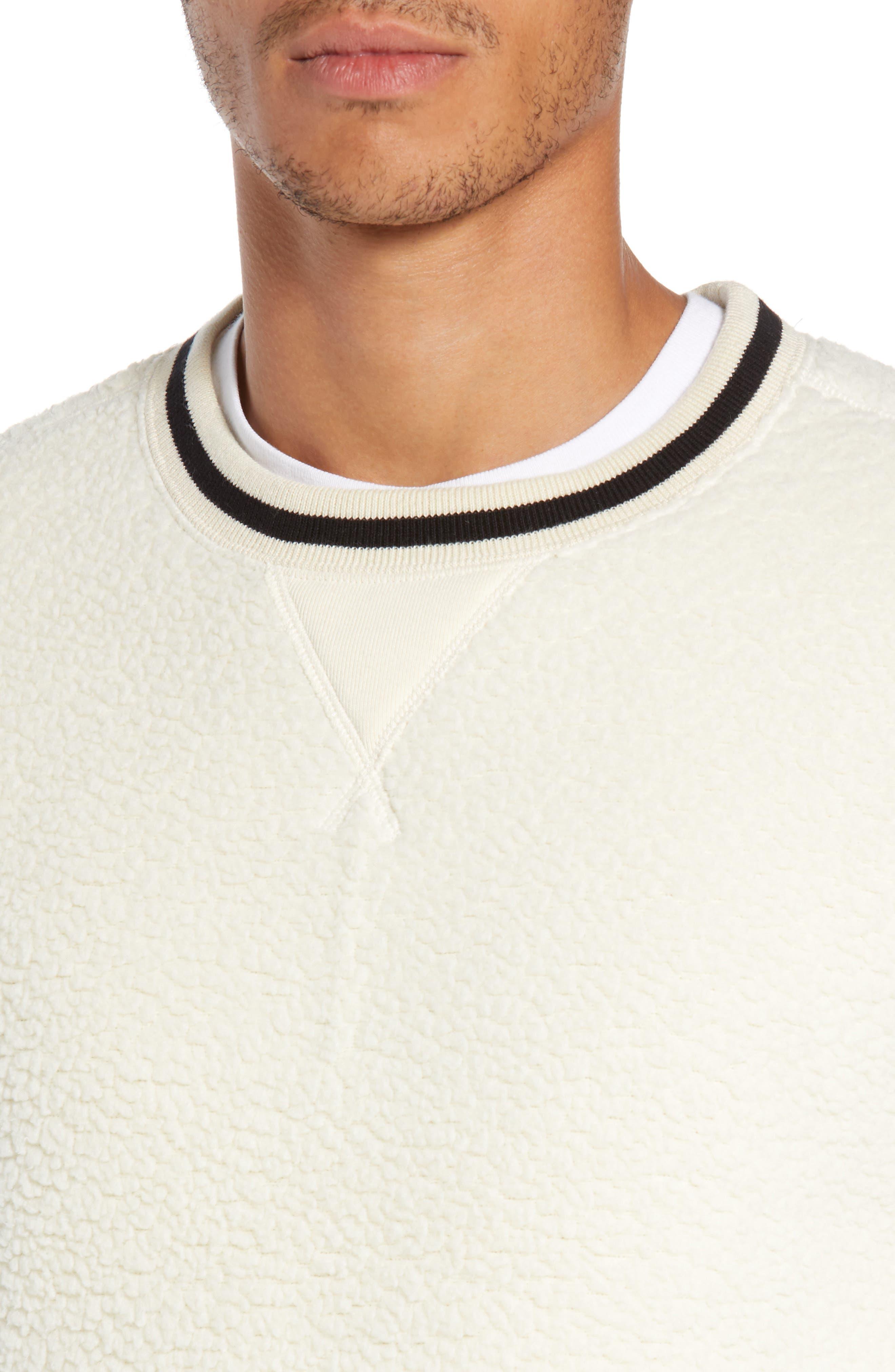 + Champion Fleece Crewneck Sweatshirt,                             Alternate thumbnail 4, color,                             900