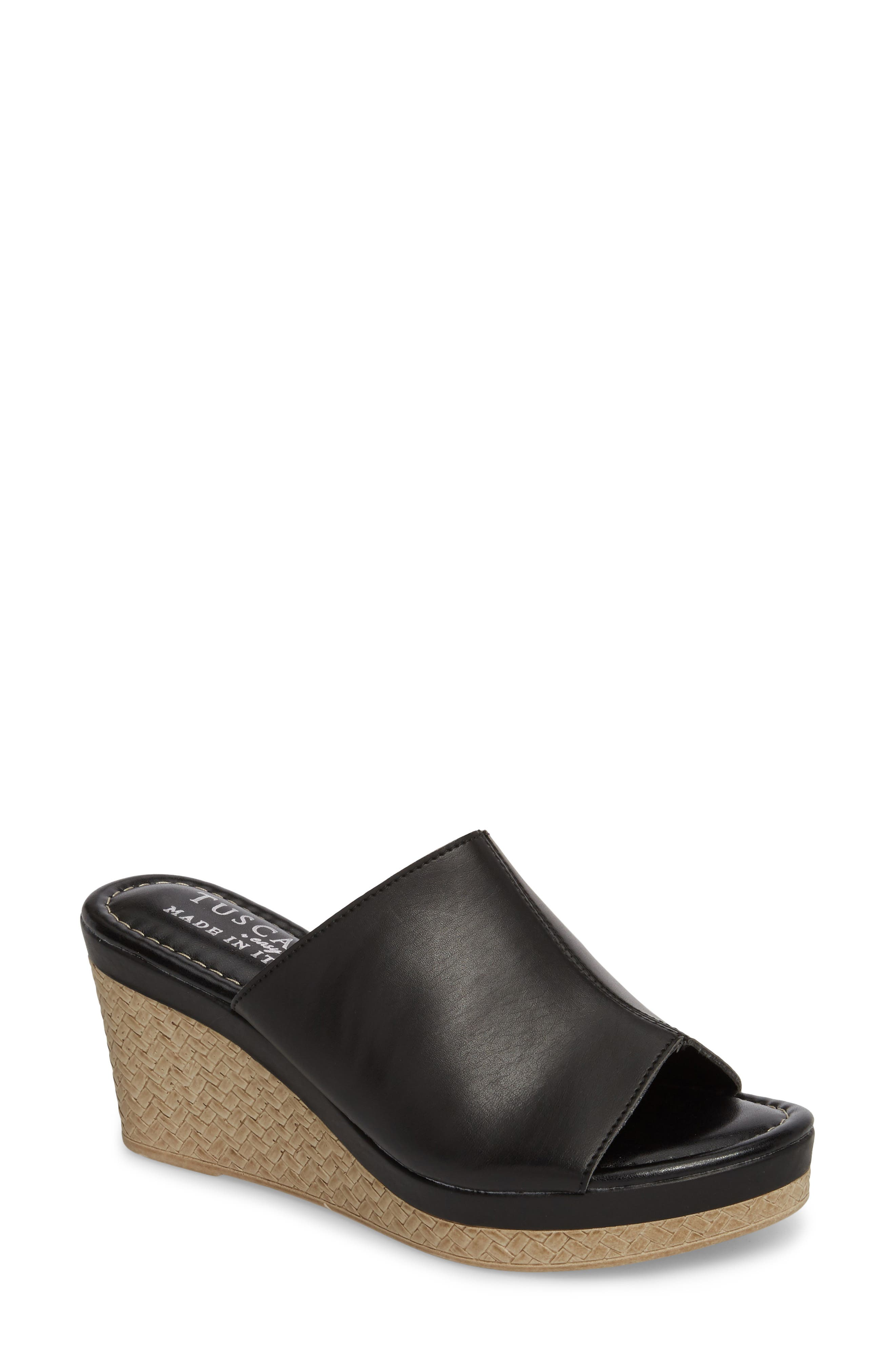 TUSCANY BY EASY STREET<SUP>®</SUP>,                             Octavia Espadrille Wedge,                             Main thumbnail 1, color,                             001