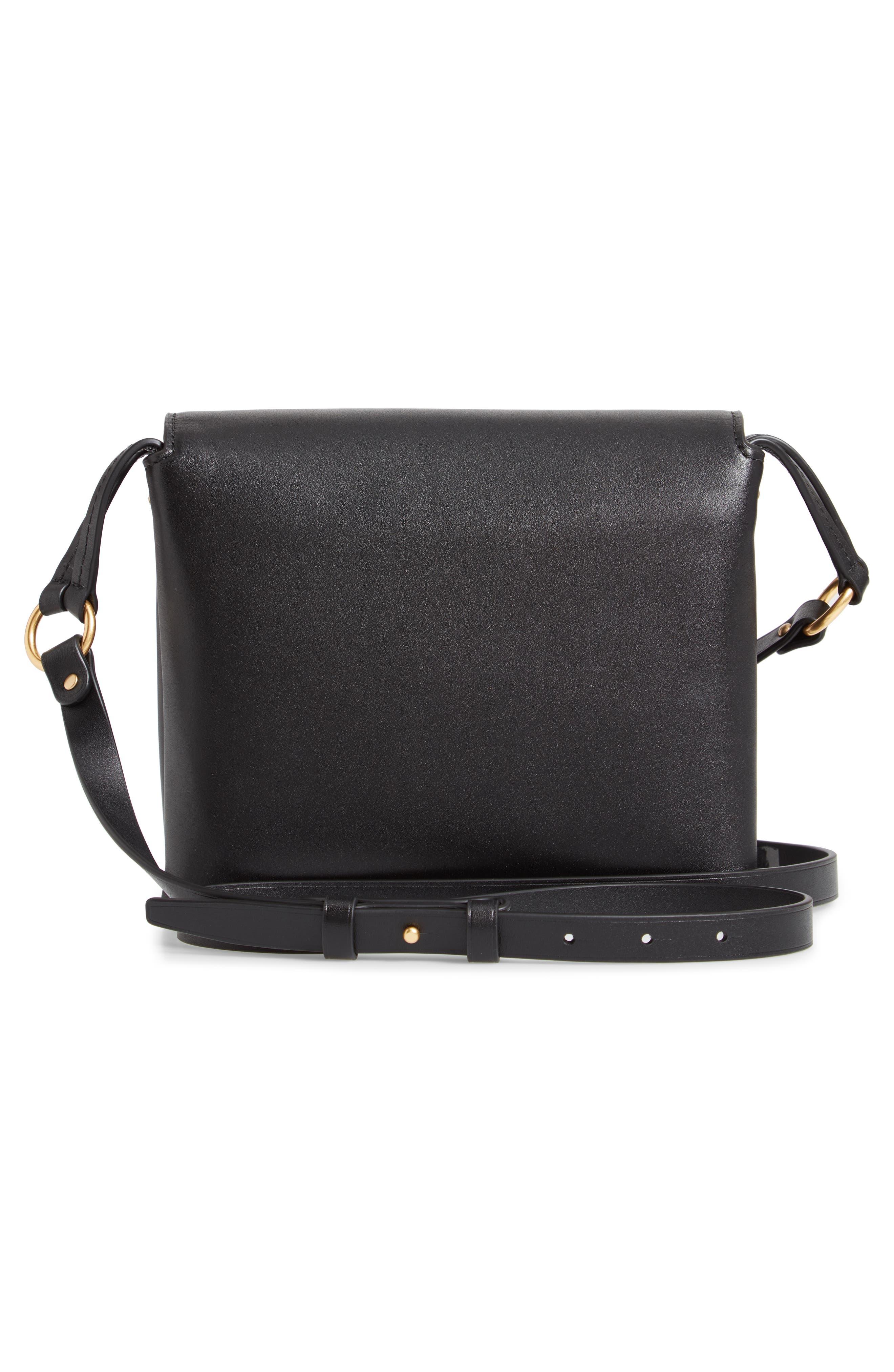 Miller Leather Crossbody Bag,                             Alternate thumbnail 3, color,                             BLACK