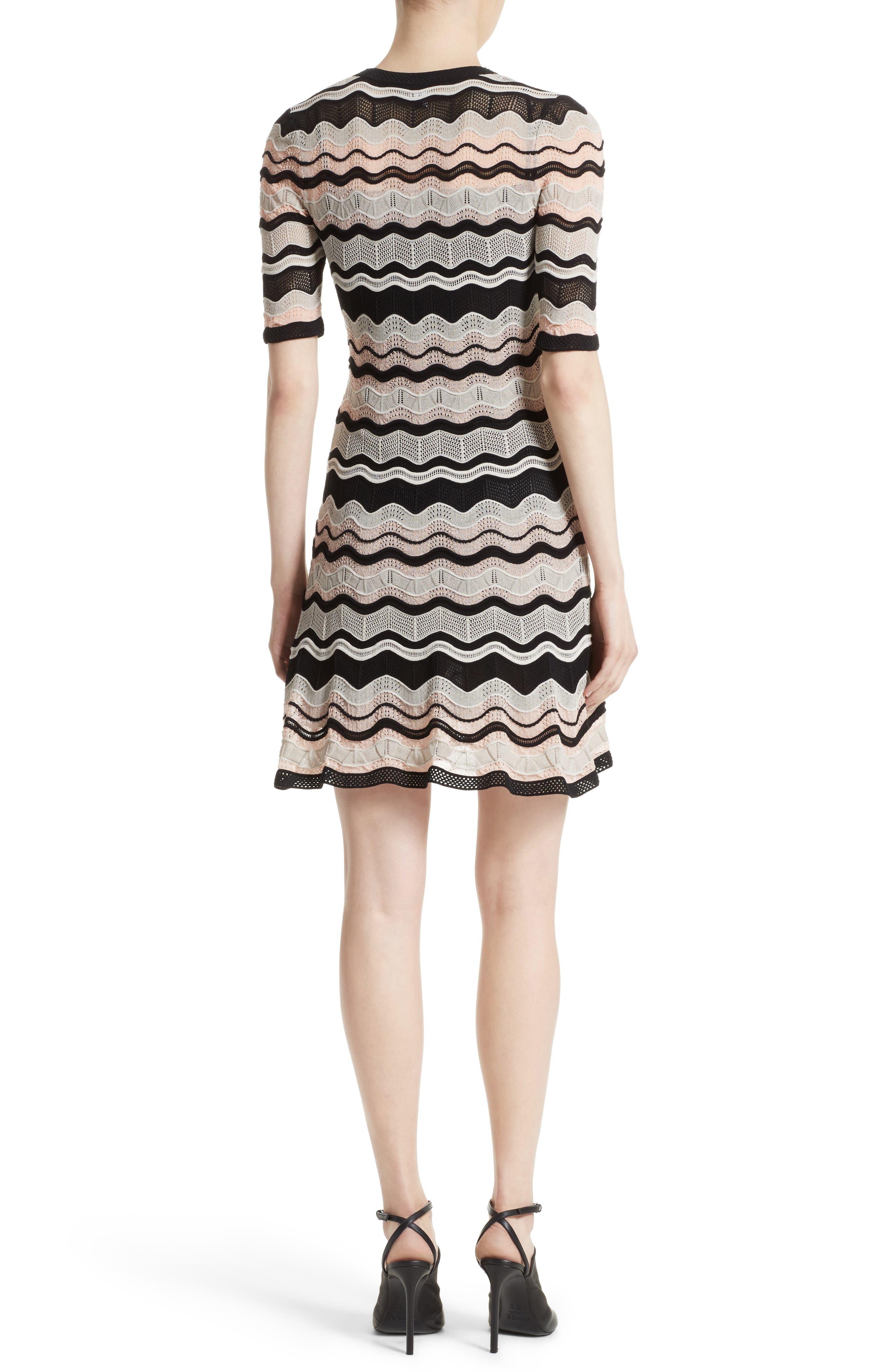 Ripple Ribbon Fit & Flare Dress,                             Alternate thumbnail 2, color,                             661