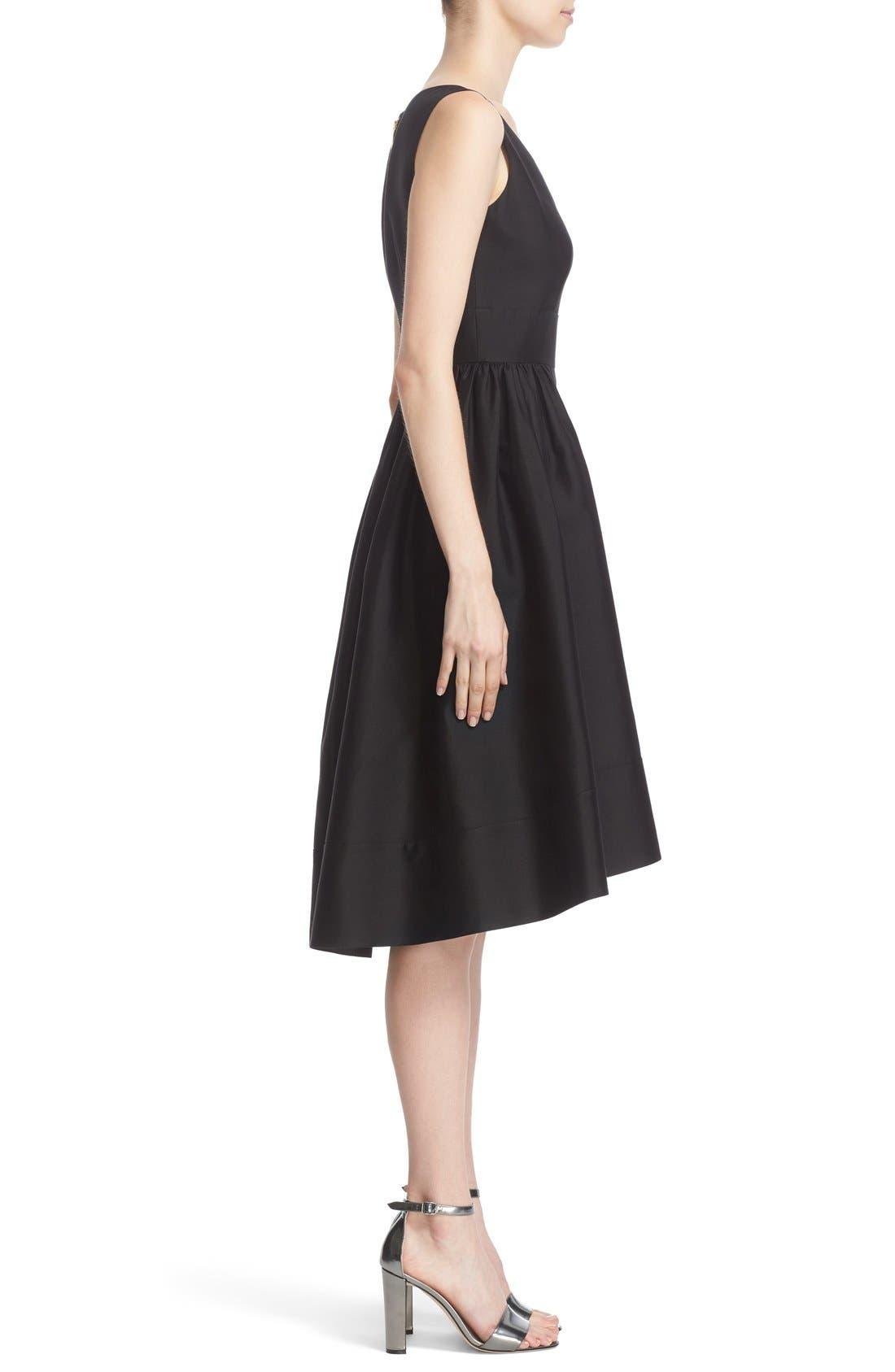'heritage' sleeveless fit & flare dress,                             Alternate thumbnail 3, color,                             001