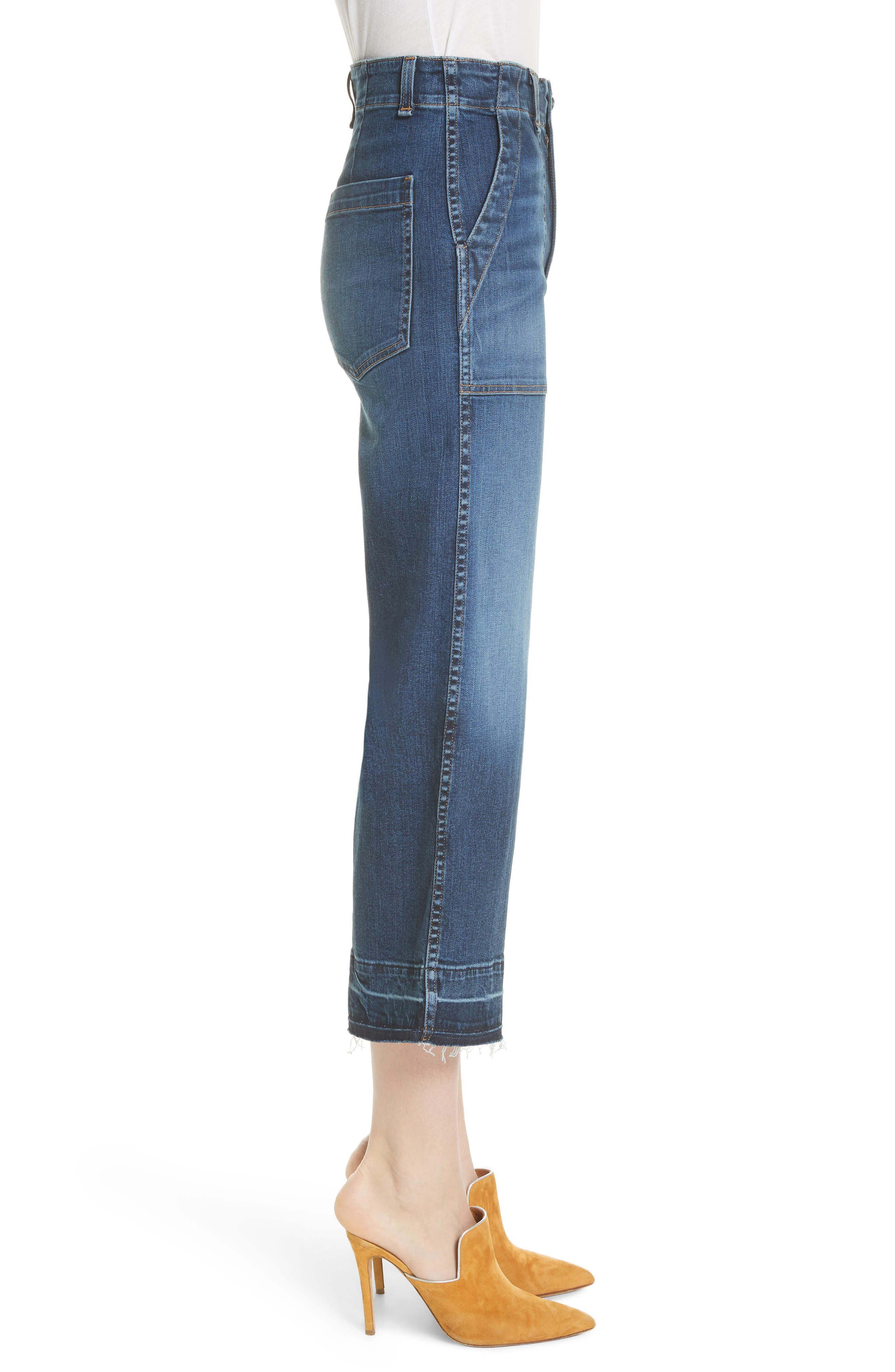 Lou Released Hem Gaucho Jeans,                             Alternate thumbnail 3, color,                             411