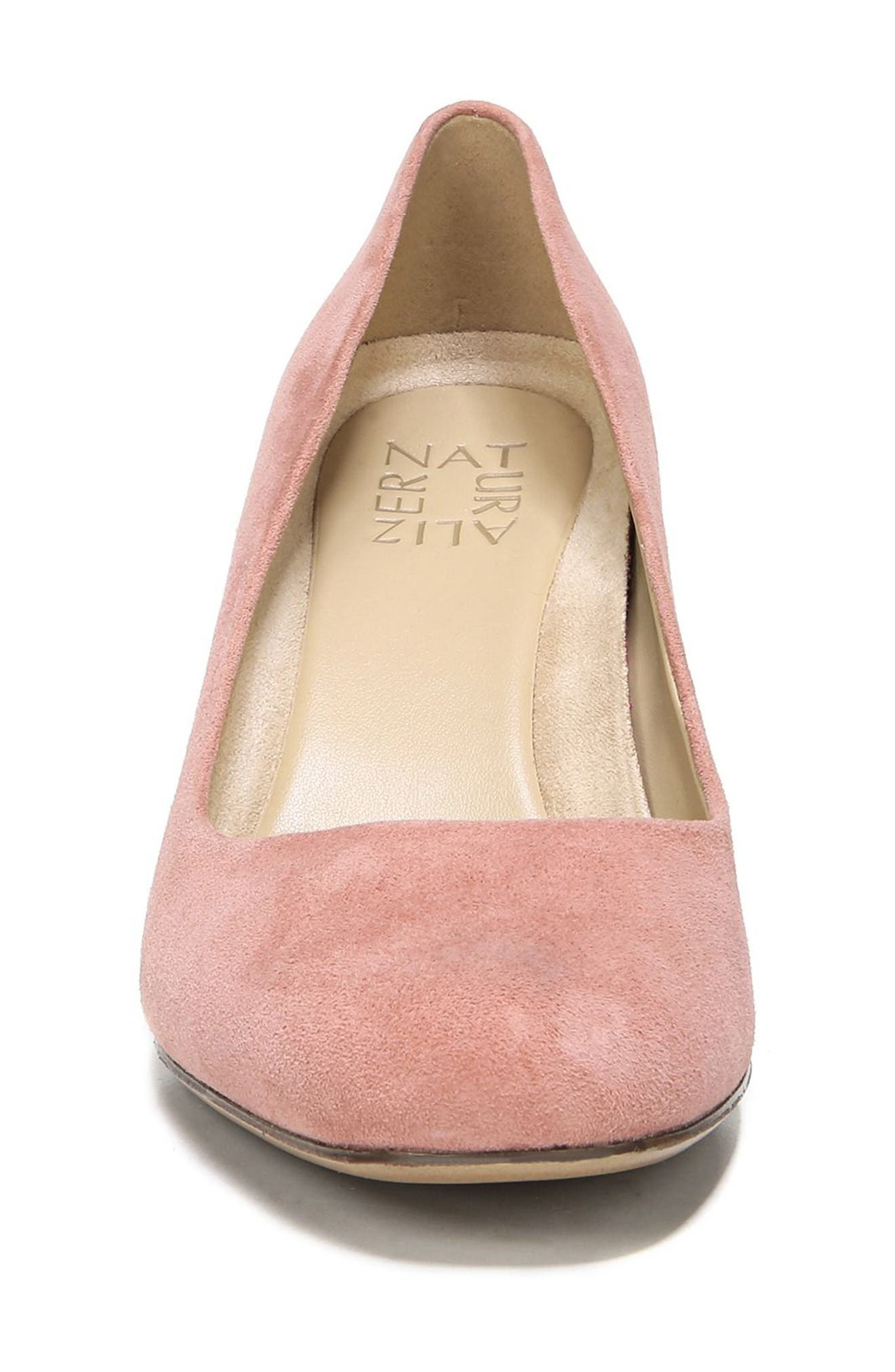 Whitney Pump,                             Alternate thumbnail 4, color,                             PEONY PINK LEATHER