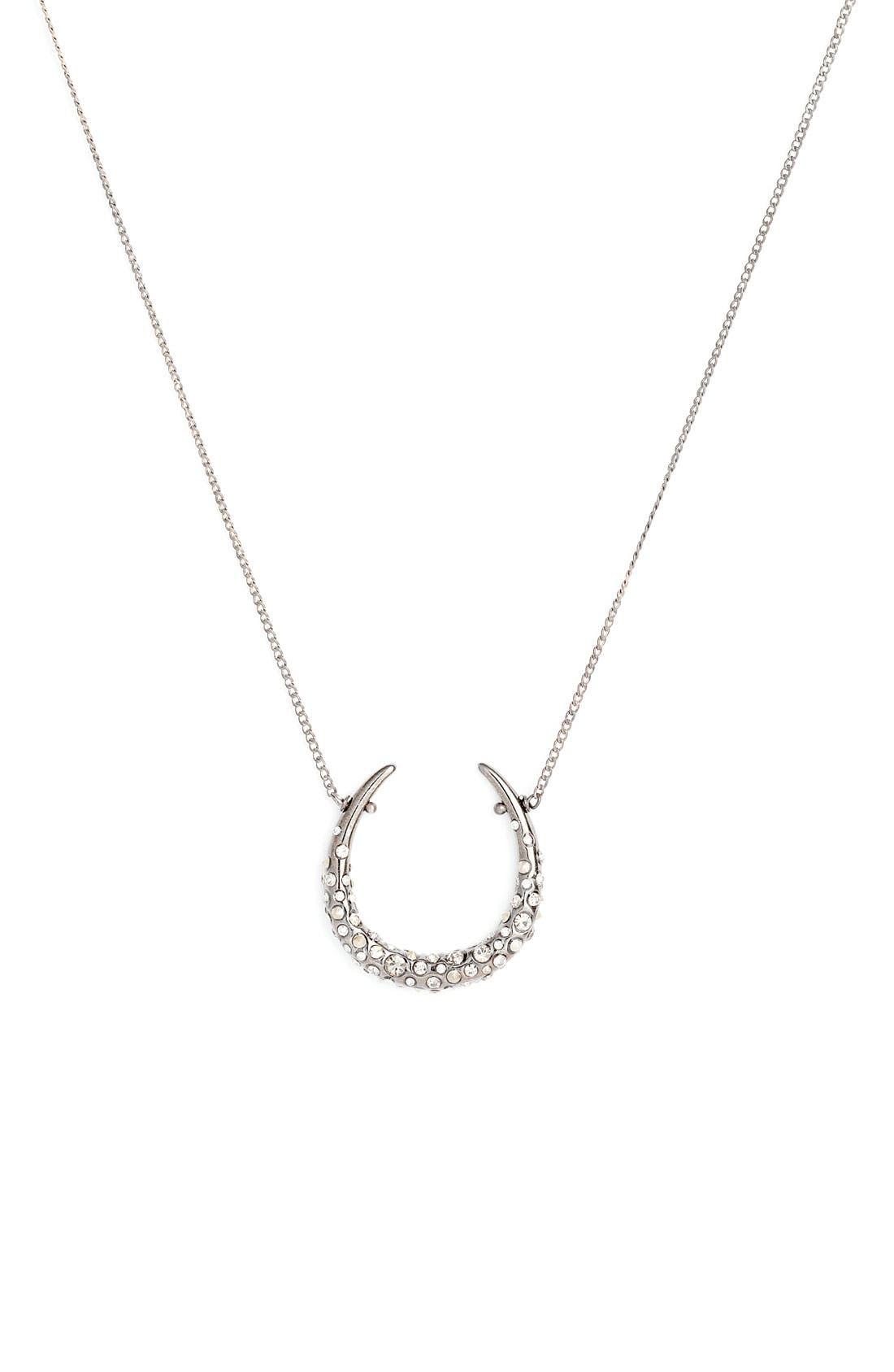 ALEXIS BITTAR,                             'Miss Havisham' Encrusted Horseshoe Necklace,                             Main thumbnail 1, color,                             040