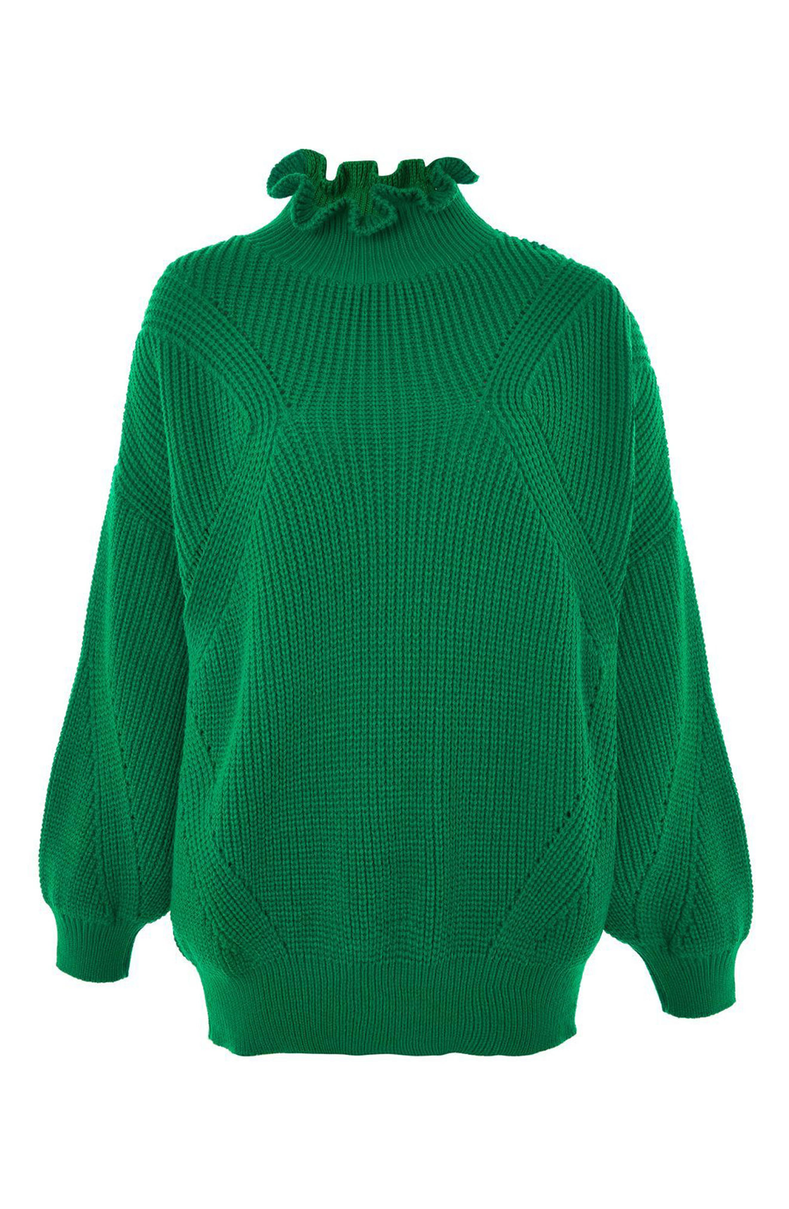Frill Neck Sweater,                             Alternate thumbnail 5, color,                             300