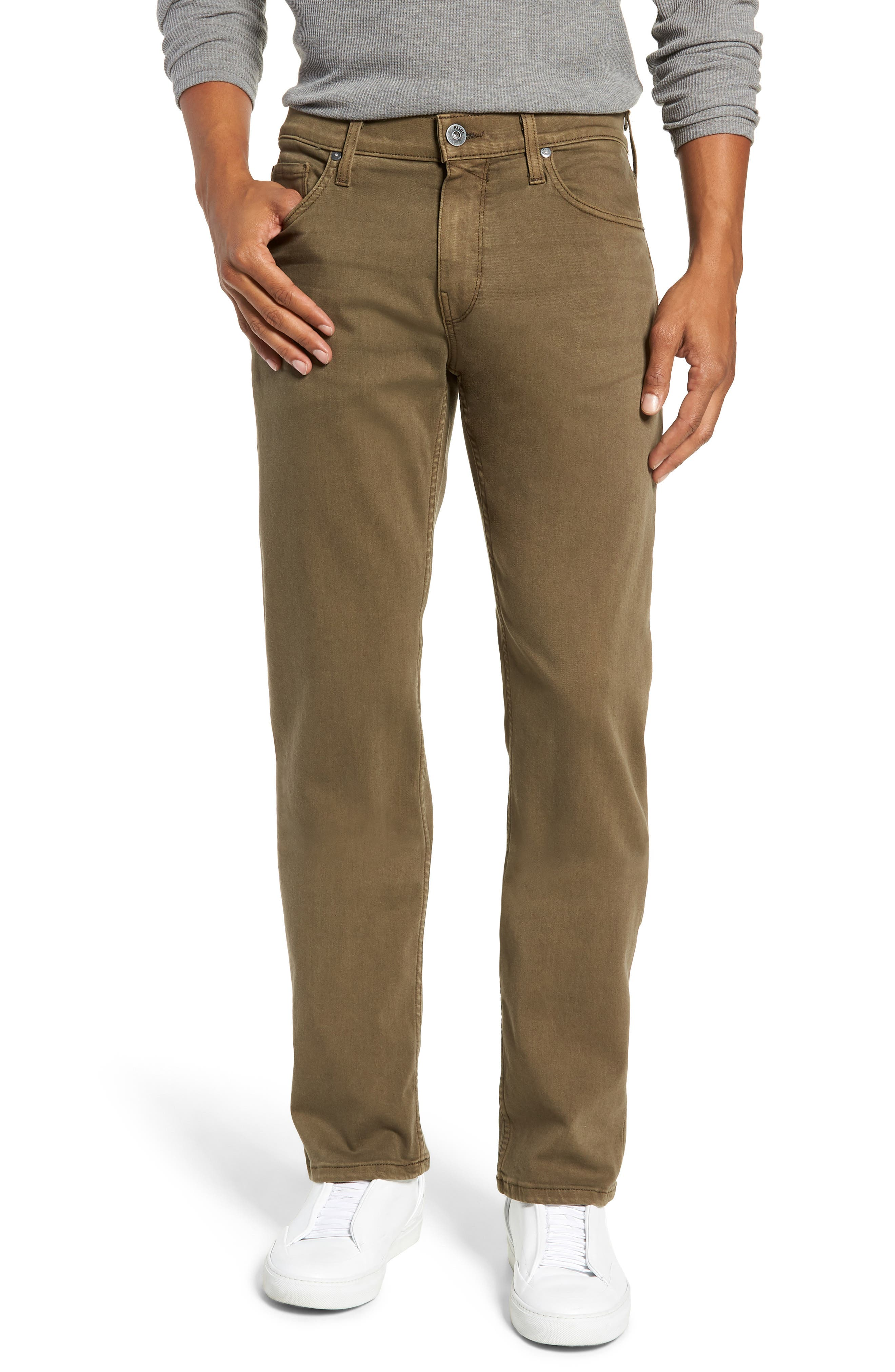 Transcend - Normandie Straight Leg Jeans,                             Main thumbnail 1, color,                             VINTAGE ARTICHOKE