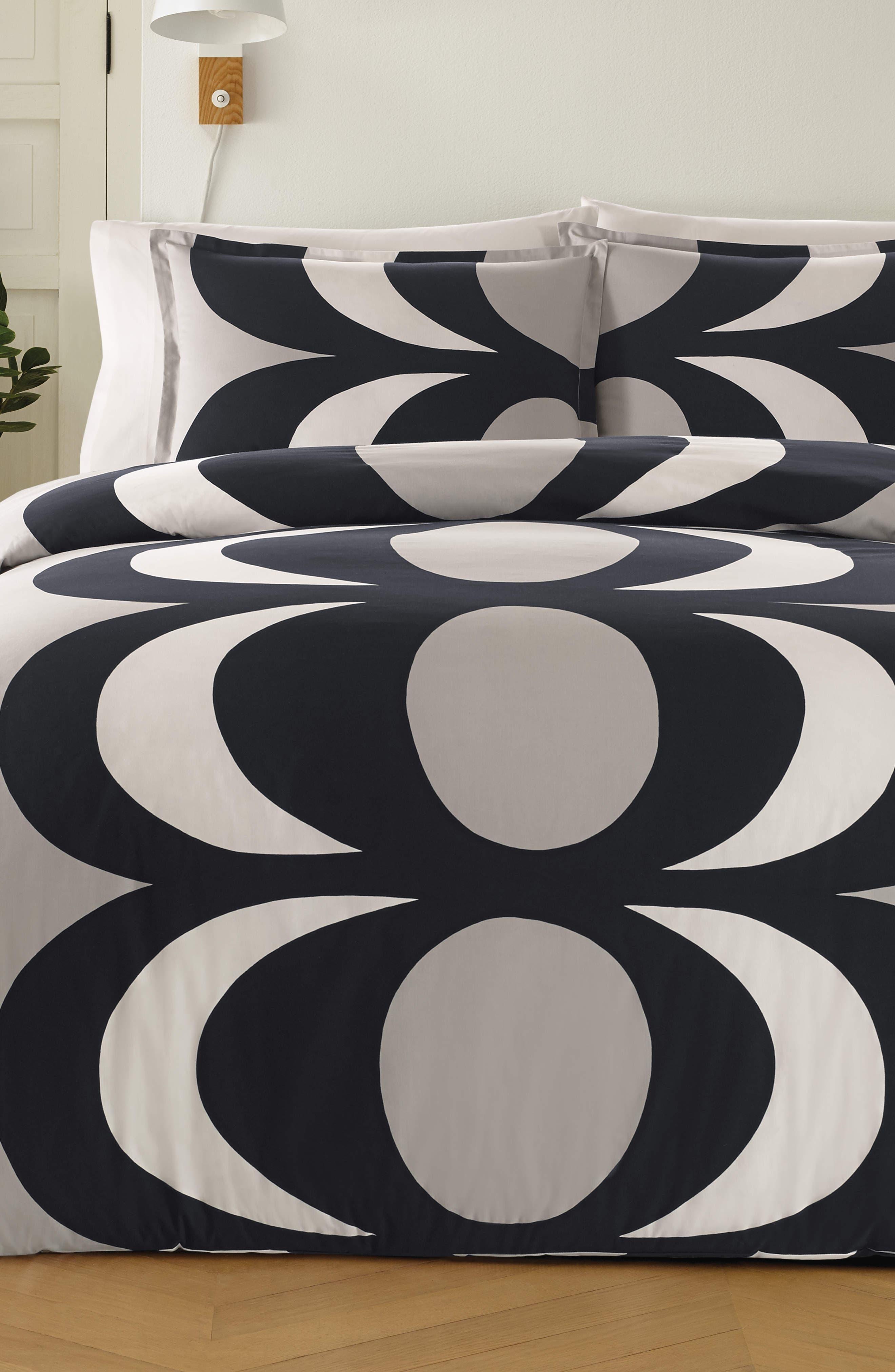 MARIMEKKO Kaivo Comforter & Sham Set, Main, color, GRAY