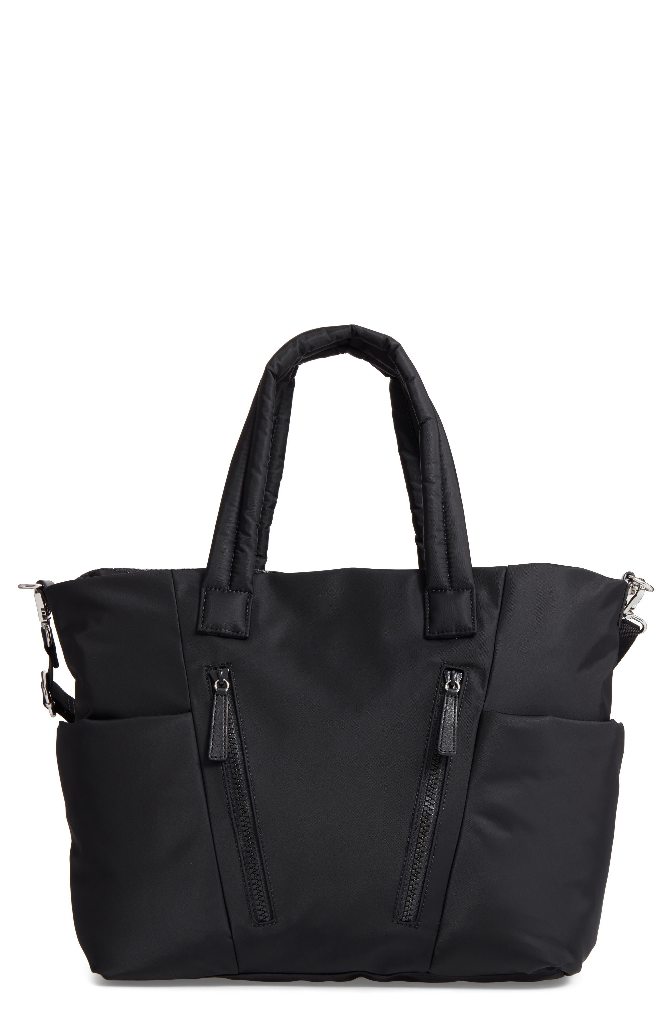 Ellie Nylon Diaper Bag,                         Main,                         color, 001